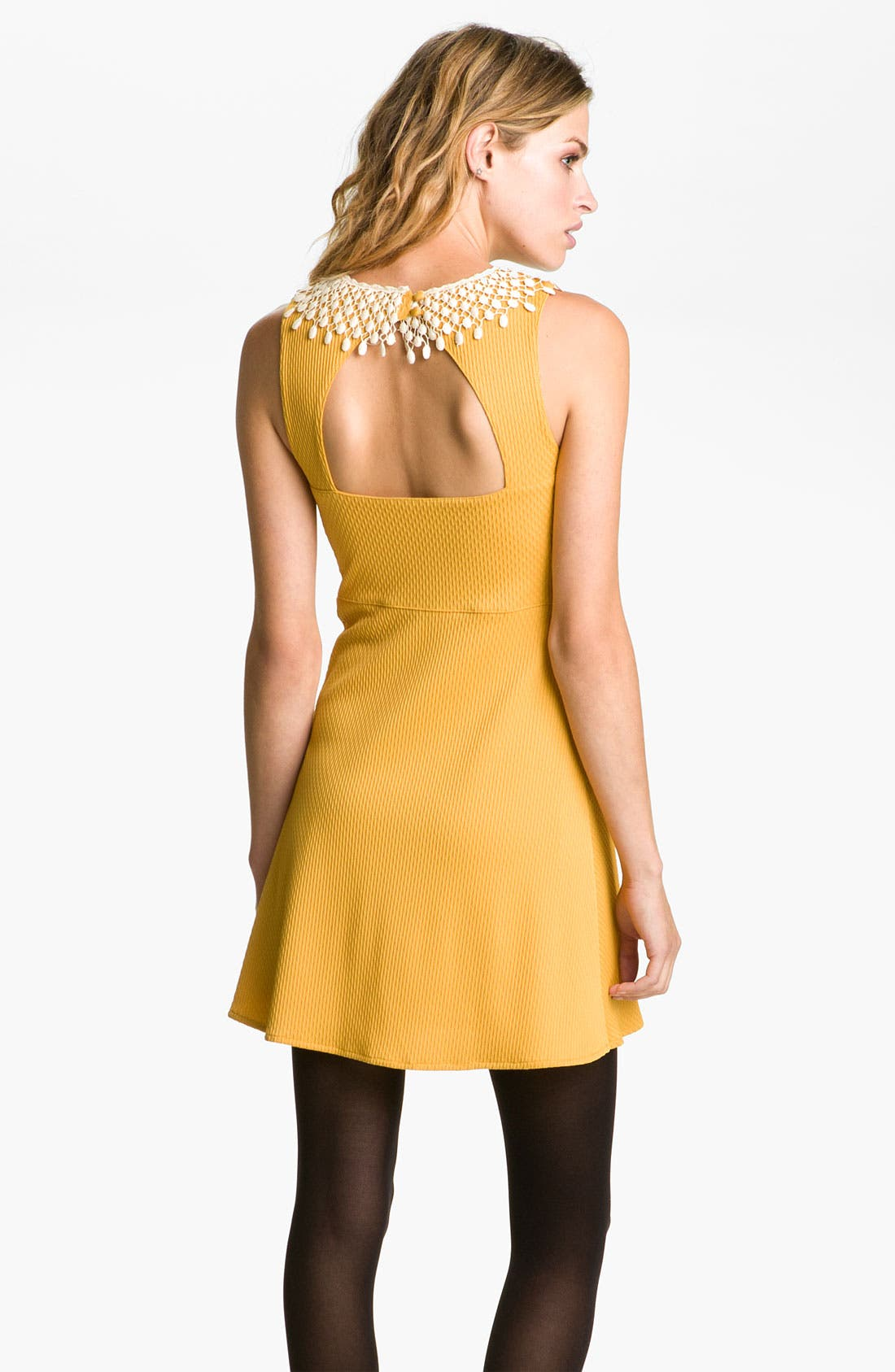 Alternate Image 2  - Free People Lace Collar Cutout Dress