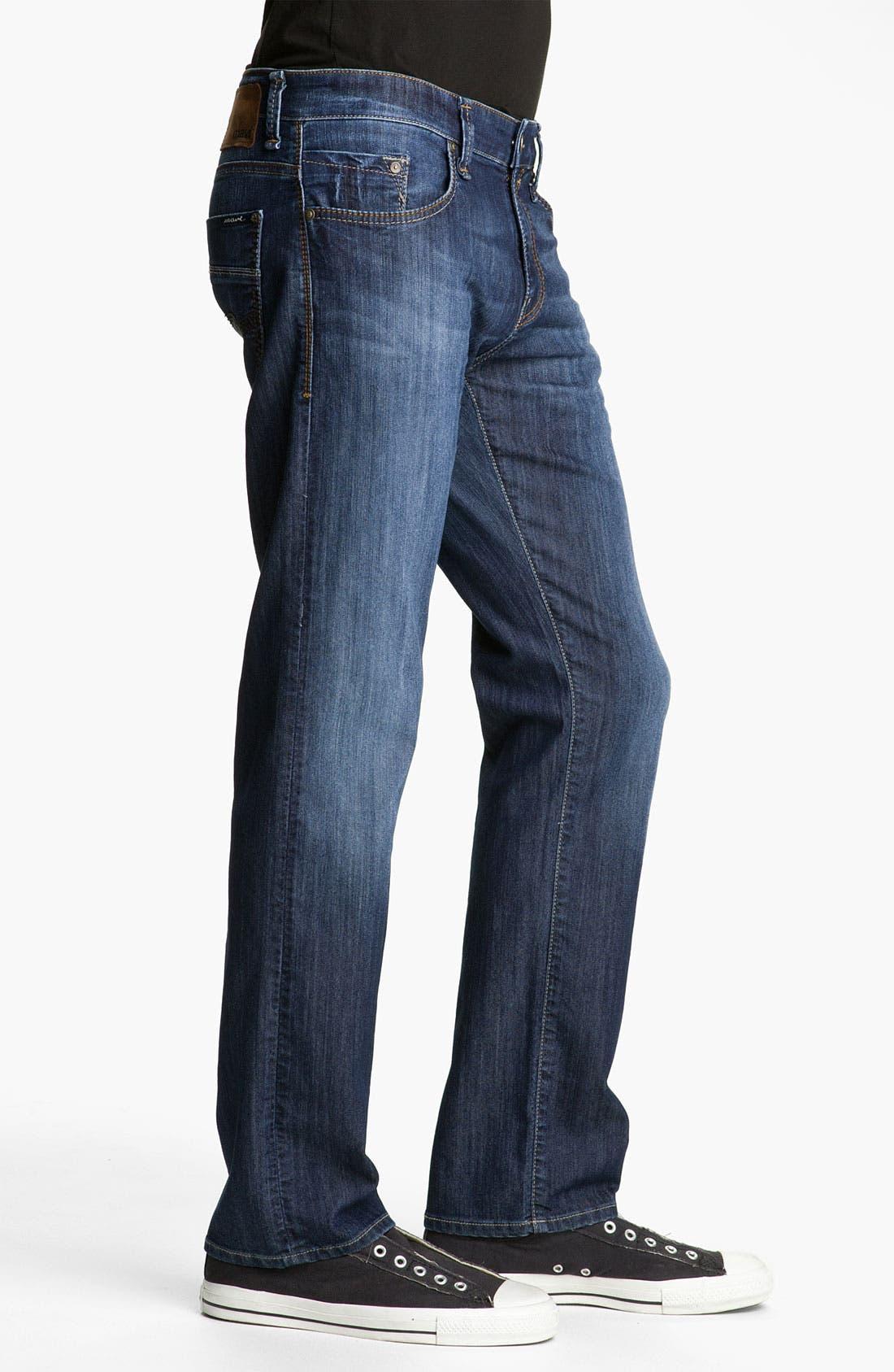 Alternate Image 3  - Mavi Jeans 'Zach' Straight Leg Jeans (Dark Arizona Comfort)
