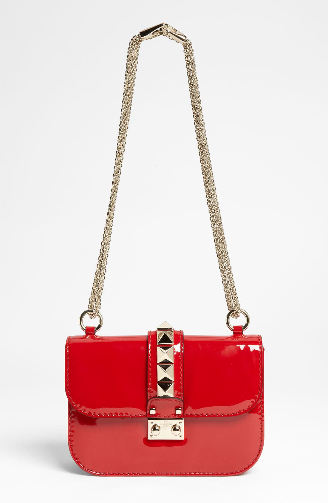 Alternate Image 1 Selected - Valentino 'Rockstud - Small Lock' Leather Shoulder Bag