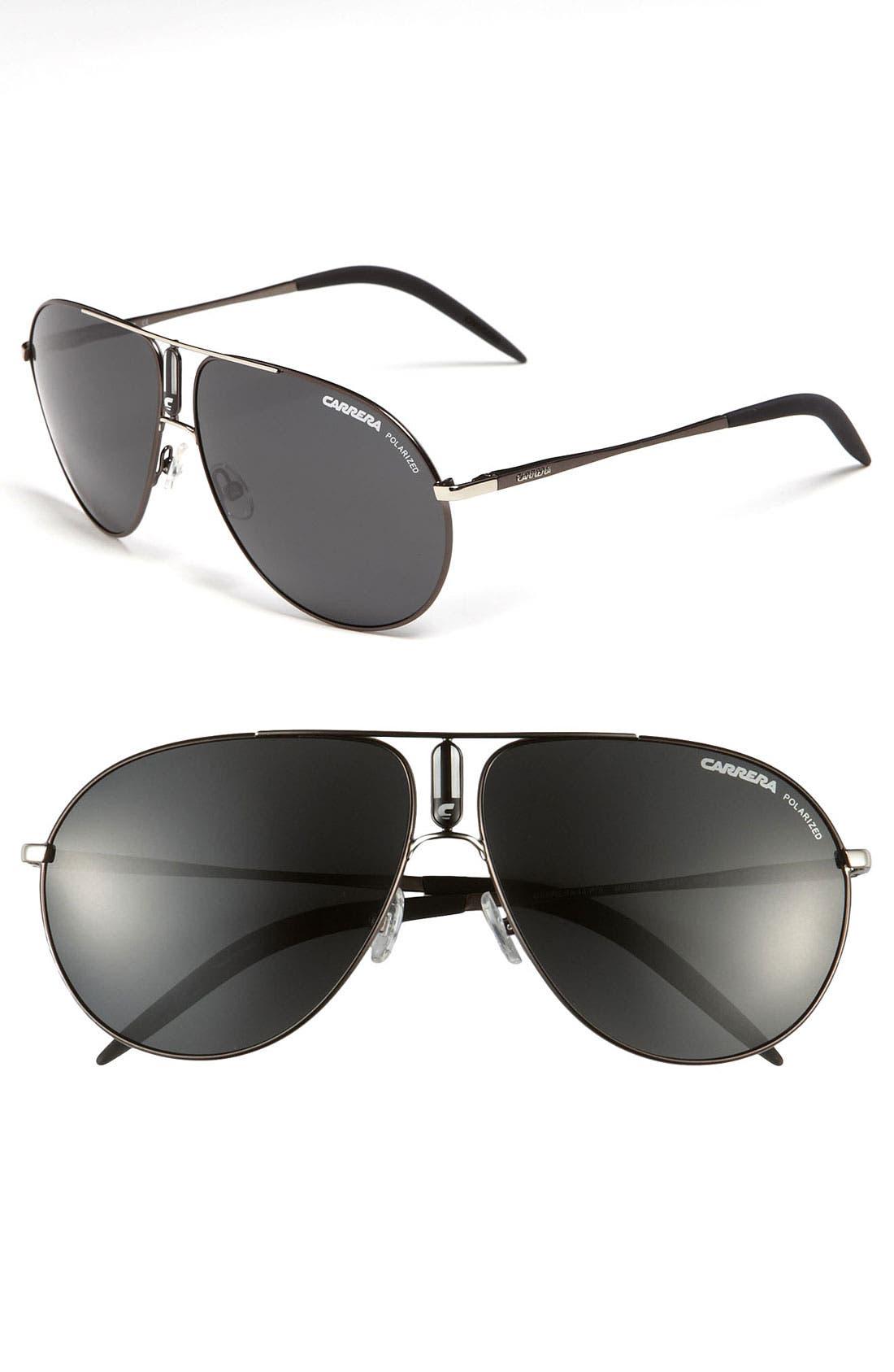 Alternate Image 1 Selected - Carrera Eyewear 61mm Polarized Aviator Sunglasses