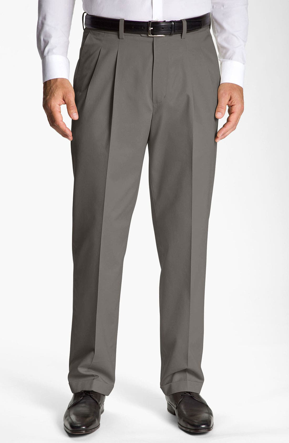 Alternate Image 1 Selected - John W. Nordstrom® Smartcare™ Pleated Supima® Cotton Pants