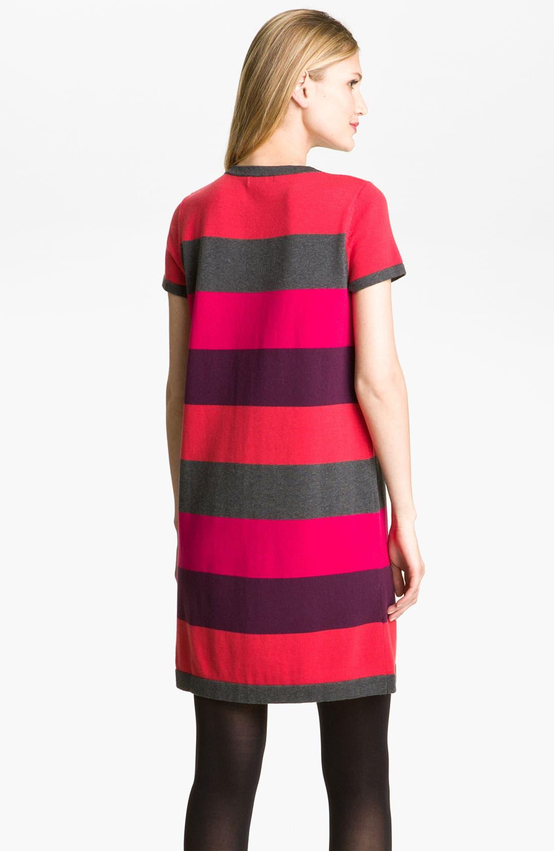 Alternate Image 2  - Calvin Klein Stripe Knit Sweater Dress
