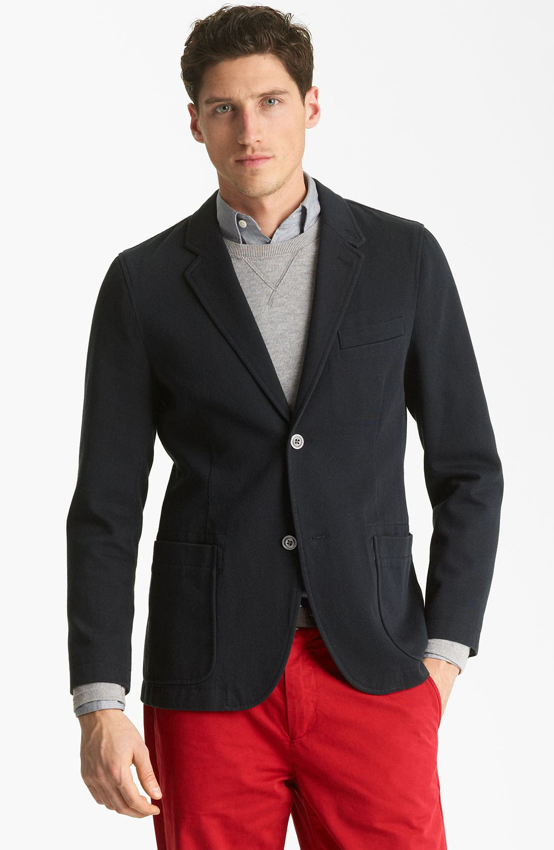 Alternate Image 1 Selected - Jack Spade 'Sanborn' Twill Cotton Blazer
