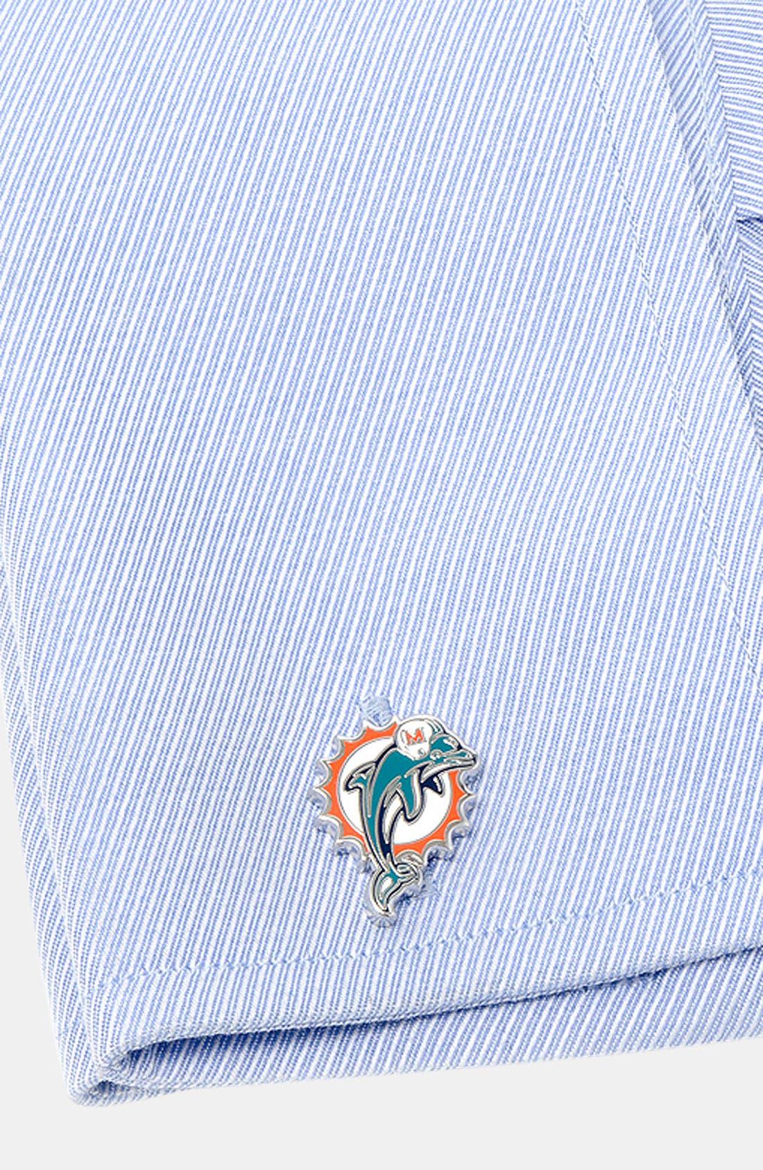 Alternate Image 2  - Cufflinks, Inc. 'Miami Dolphins' Cuff Links