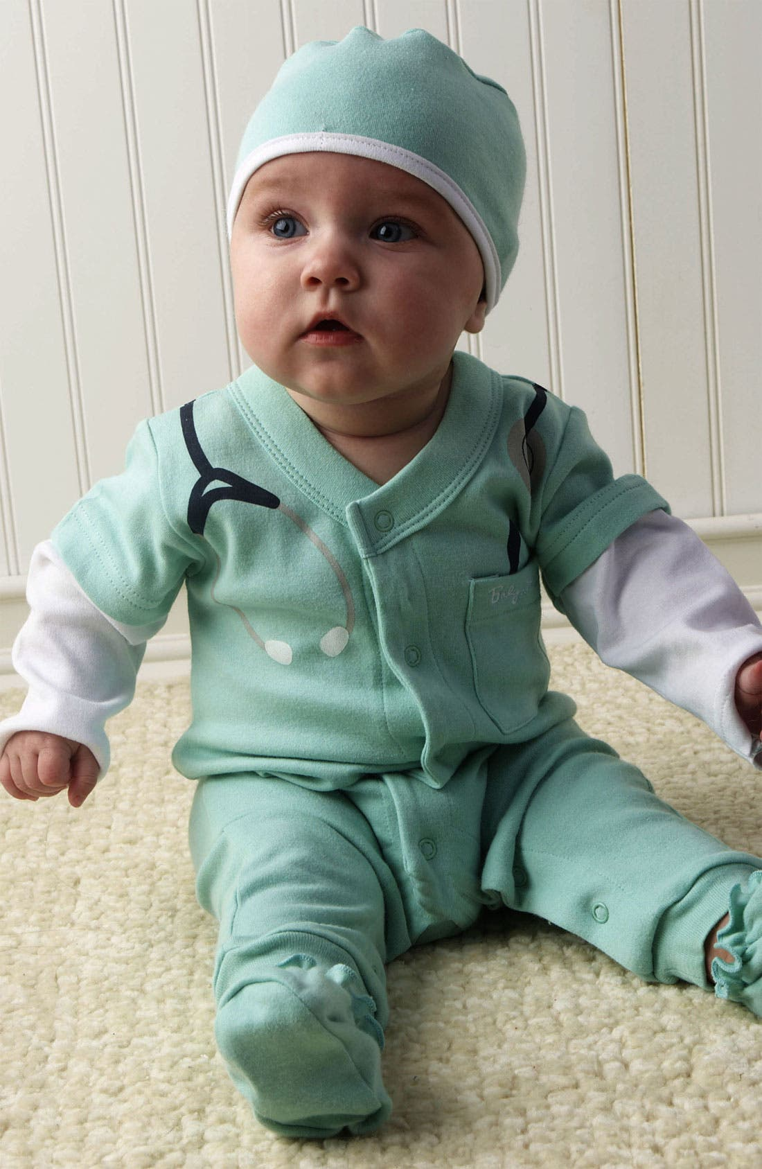 Main Image - Baby Aspen 'Baby MD' Romper Set (Baby)