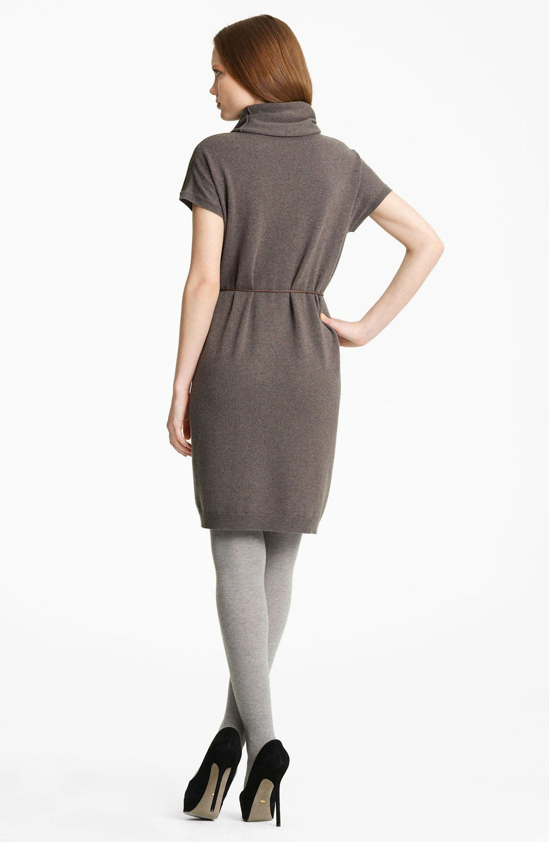 Alternate Image 2  - Fabiana Filippi Belted Suede & Knit Dress
