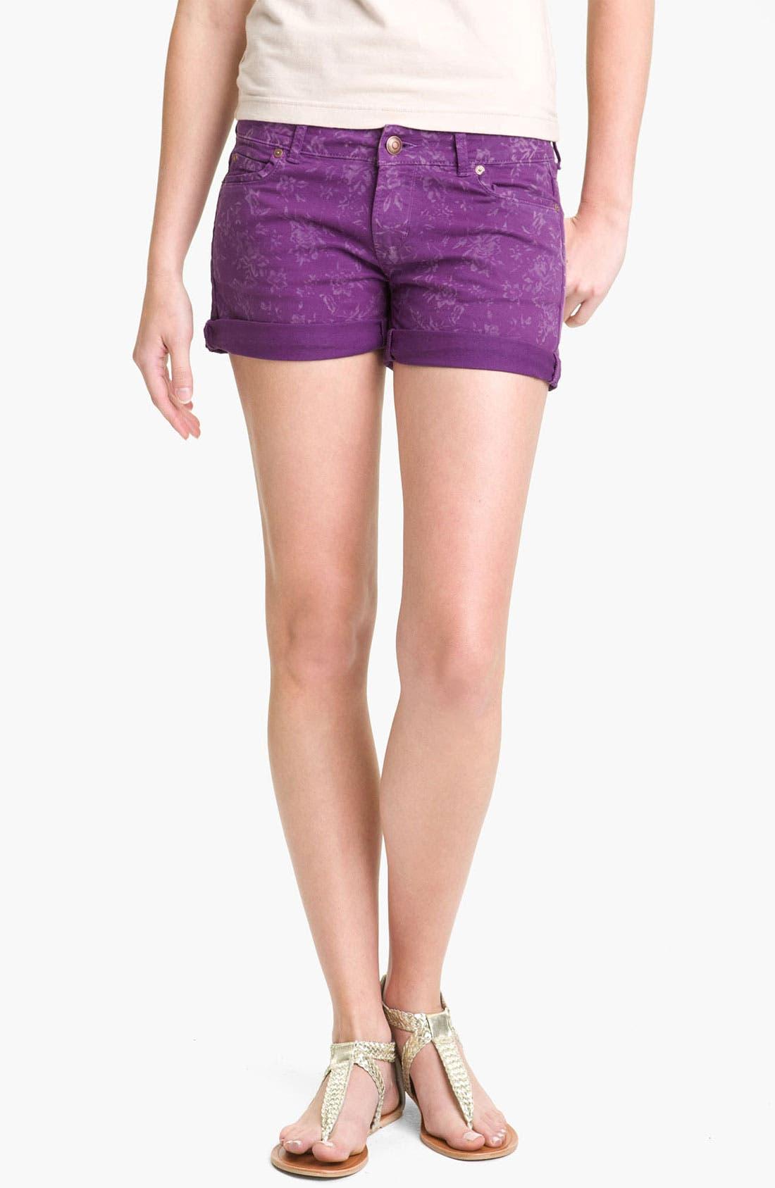 Alternate Image 3  - Articles of Society 'Kara' Cuff Denim Shorts (Flower) (Juniors)