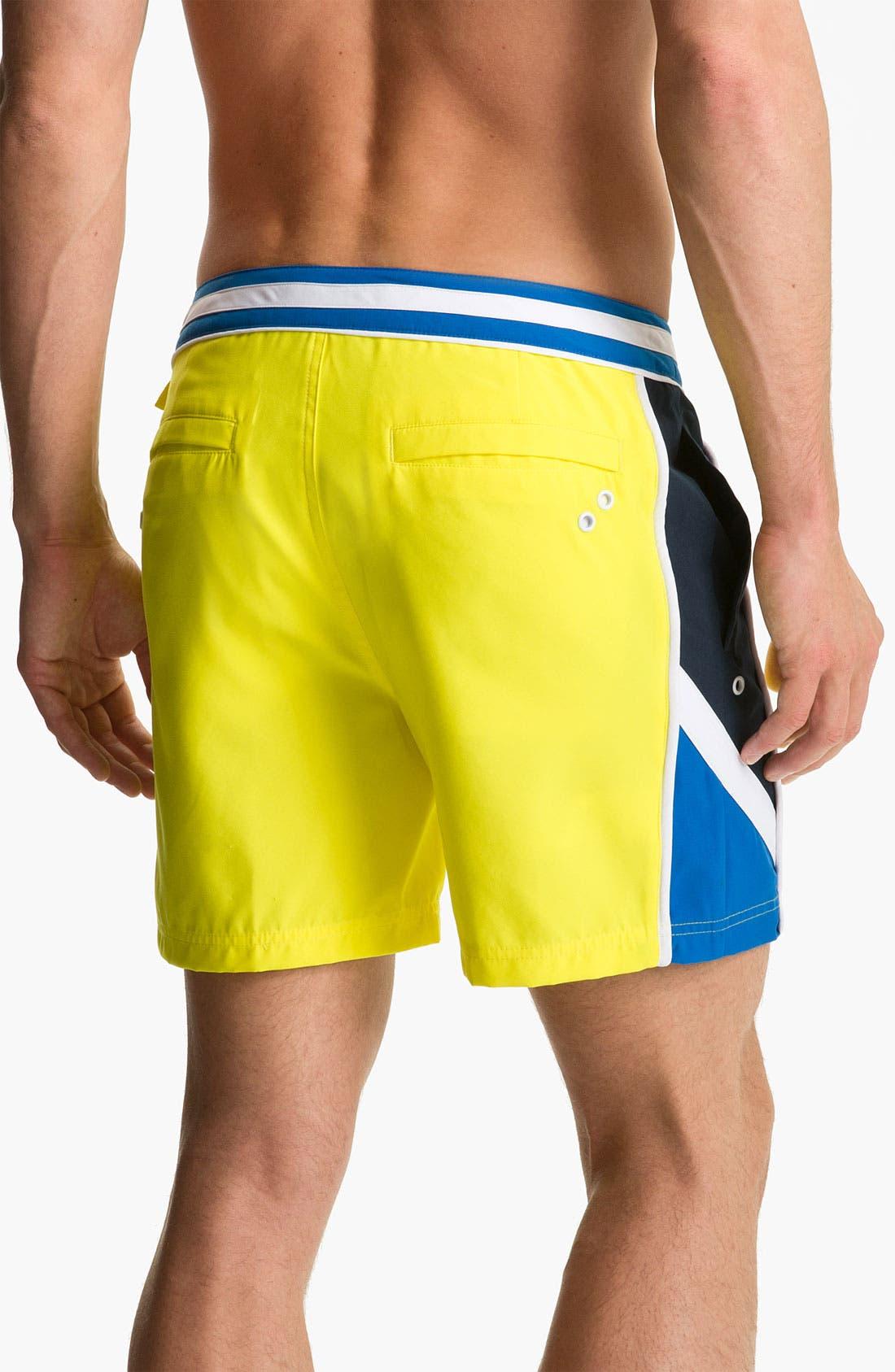 Alternate Image 2  - Original Penguin Colorblock Volley Swim Shorts