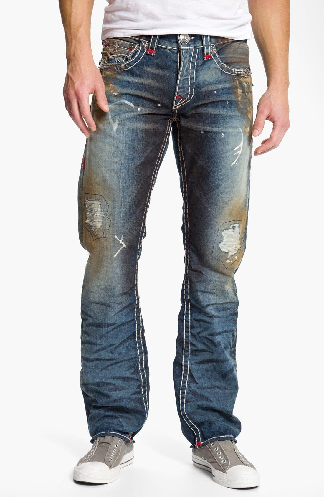 Alternate Image 2  - True Religion Brand Jeans 'Ricky' Straight Leg Jeans (Bounty)
