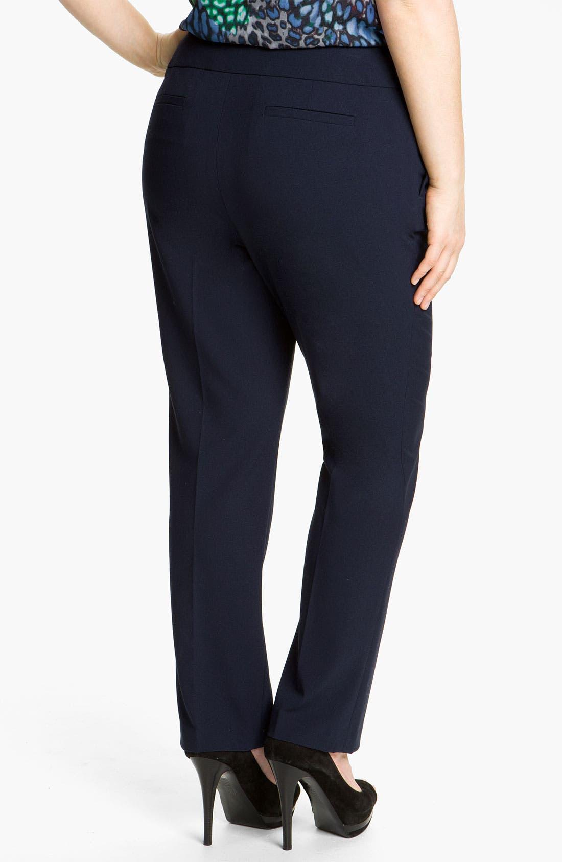 Alternate Image 2  - Vince Camuto Slim Leg Crop Pants (Plus)