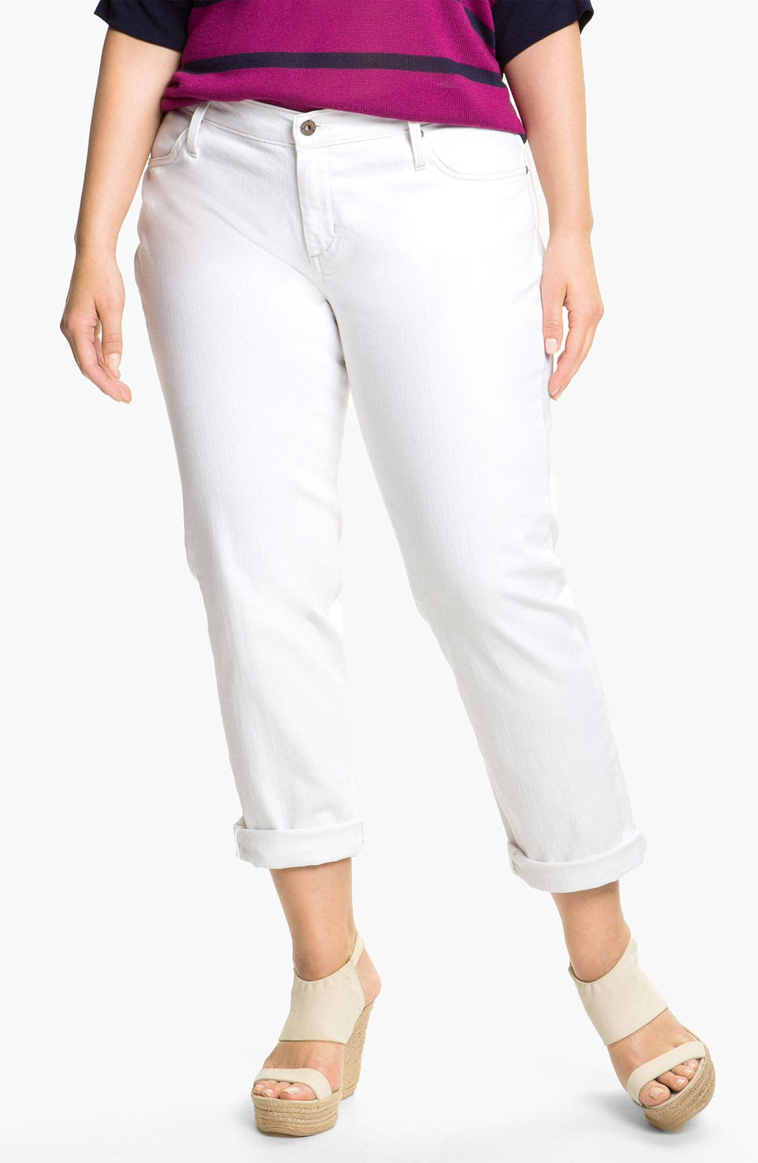Alternate Image 2  - James Jeans Boyfriend Jeans (Plus)