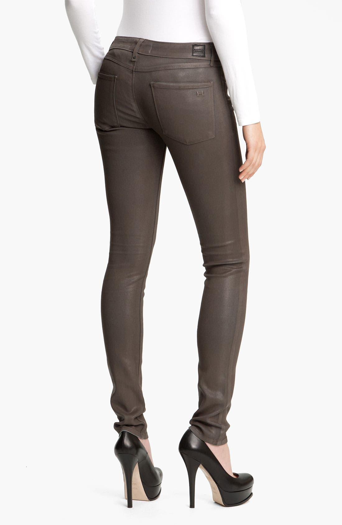 Alternate Image 2  - Habitual 'Alice' Coated Skinny Stretch Jeans
