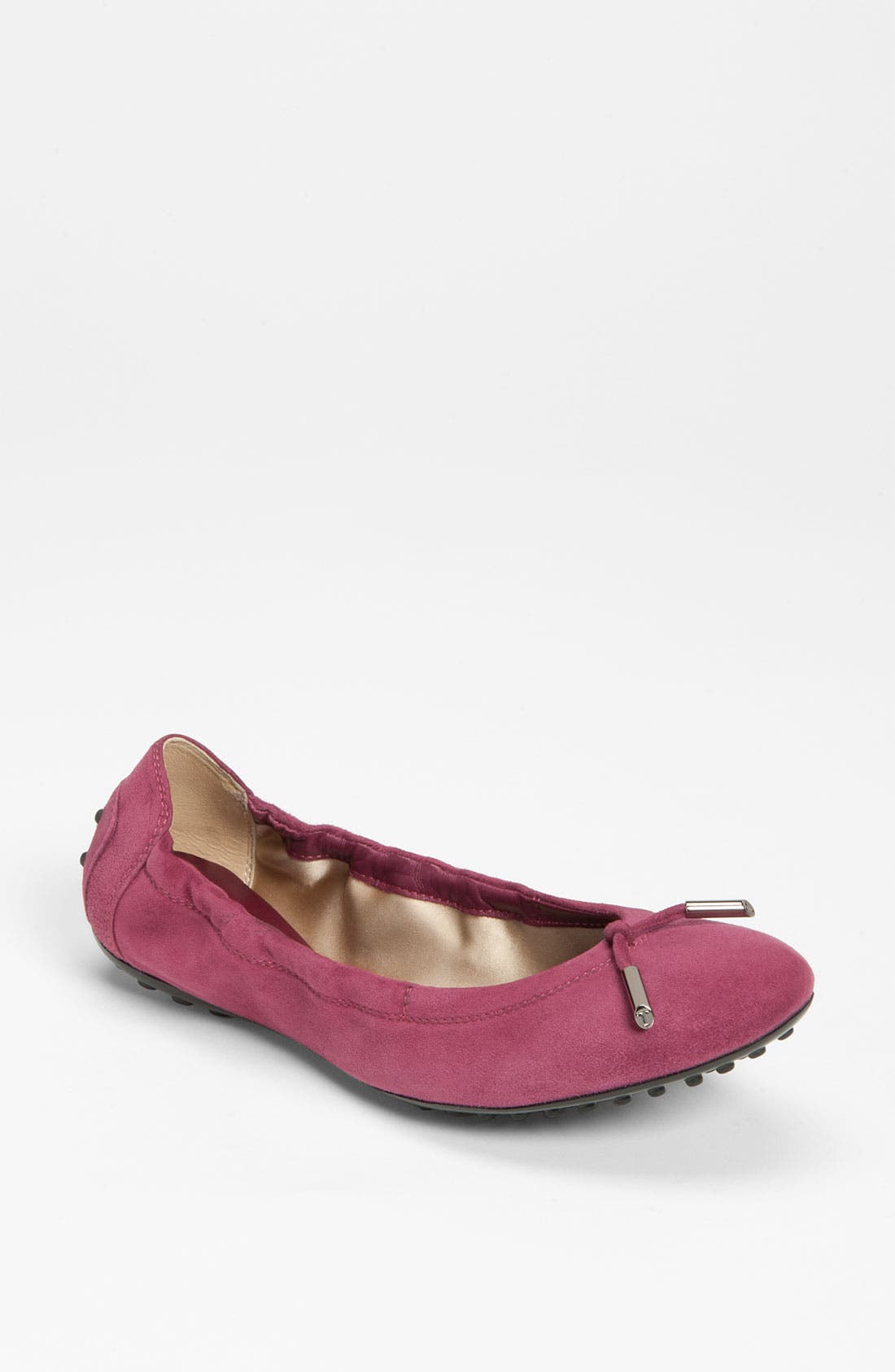Main Image - Tod's Bow Trim Suede Flat