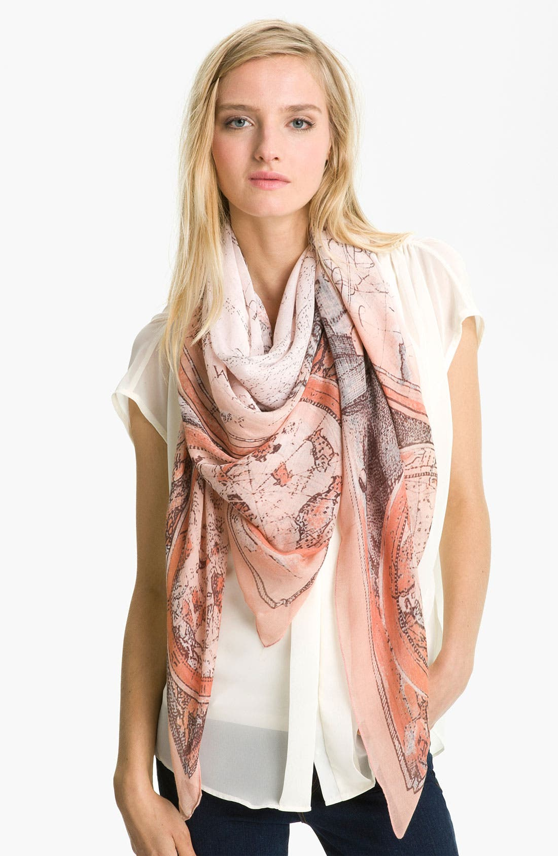 Alternate Image 1 Selected - Tarnish 'Vintage Map' Scarf