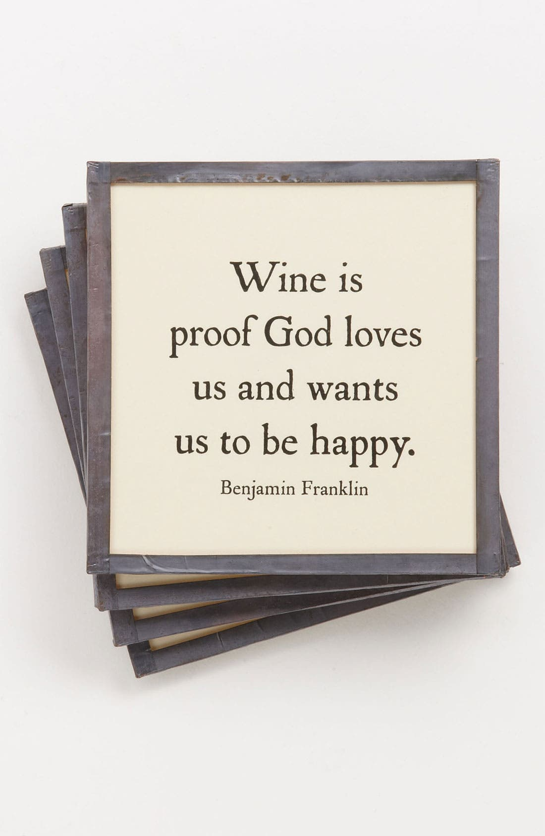 Main Image - Ben's Garden 'Wine Is Proof' Coaster Set