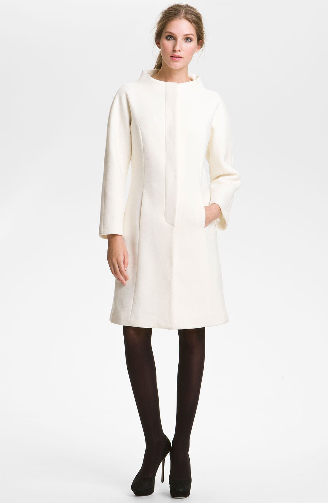 Main Image - Milly 'Claudine' Seamed Coat