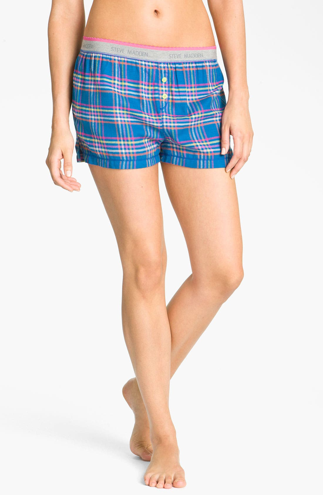 Alternate Image 1 Selected - Steve Madden 'Mad4Plaid' Boxer Shorts