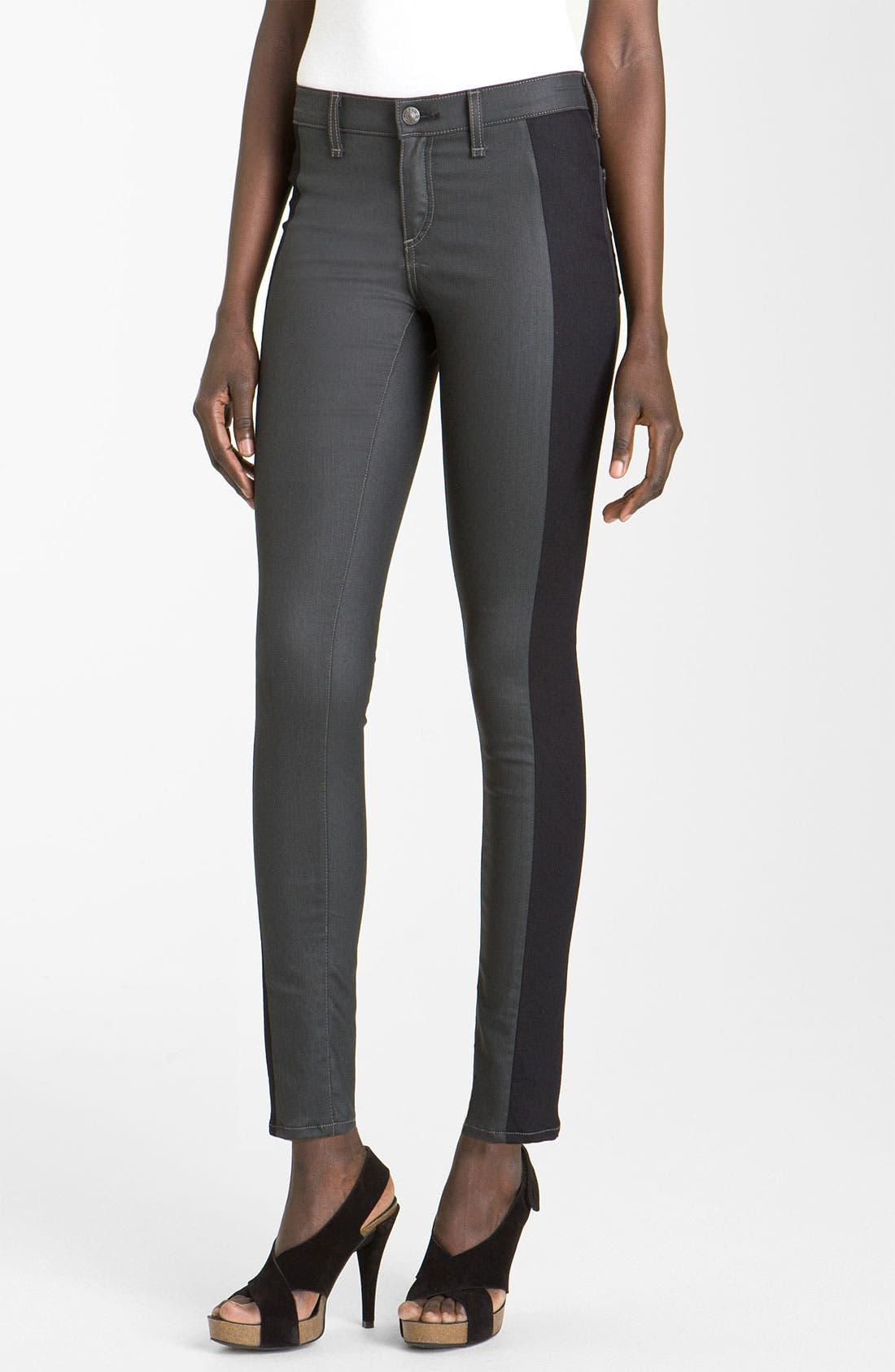 Main Image - rag & bone/JEAN Slim Tuxedo Stripe Jeans