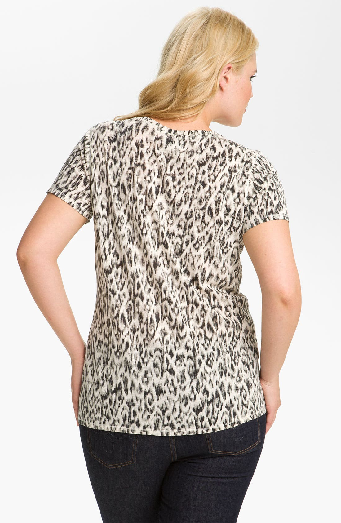 Alternate Image 2  - Lucky Brand Animal Print Tee (Plus)