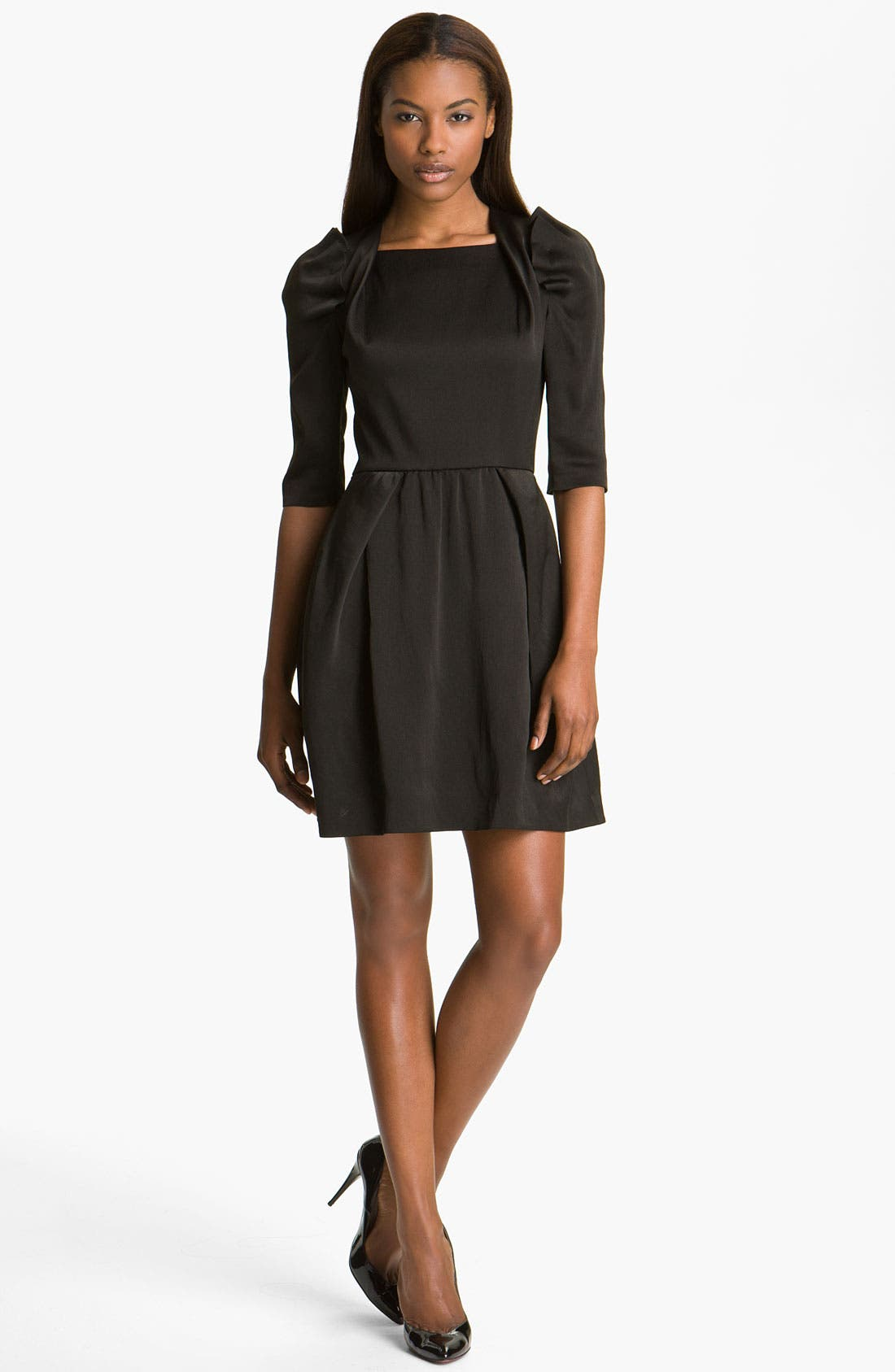 Main Image - Carven Puff Shoulder Organza Dress