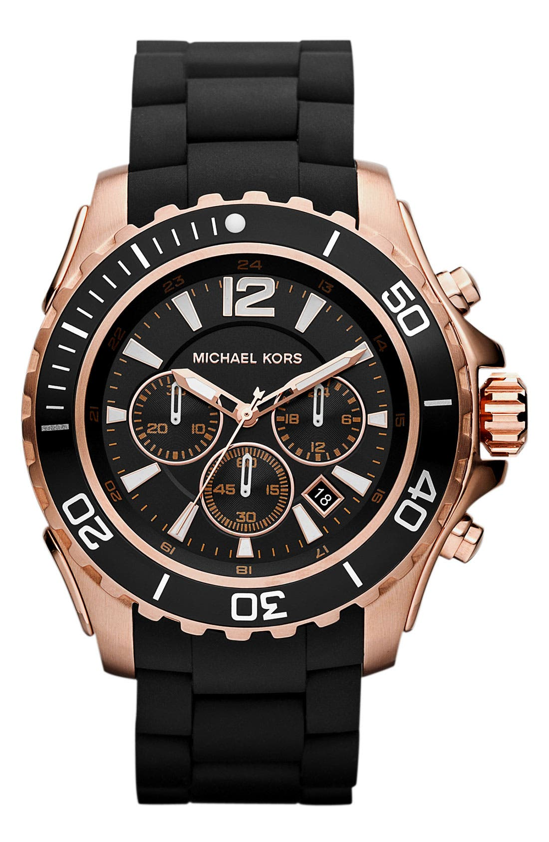 Alternate Image 1 Selected - Michael Kors 'Everest' Chronograph Silicone Strap Watch