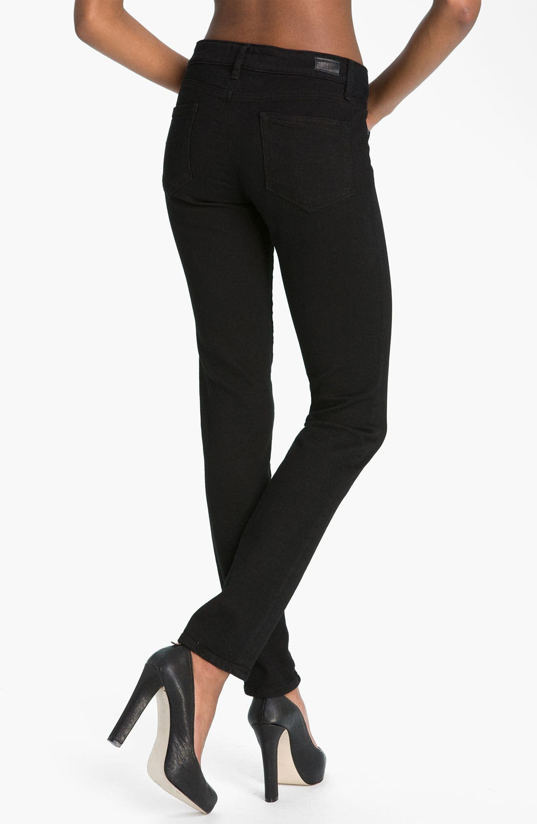 Alternate Image 2  - Paige Denim 'Skyline' Skinny Stretch Jeans (Black Ink)