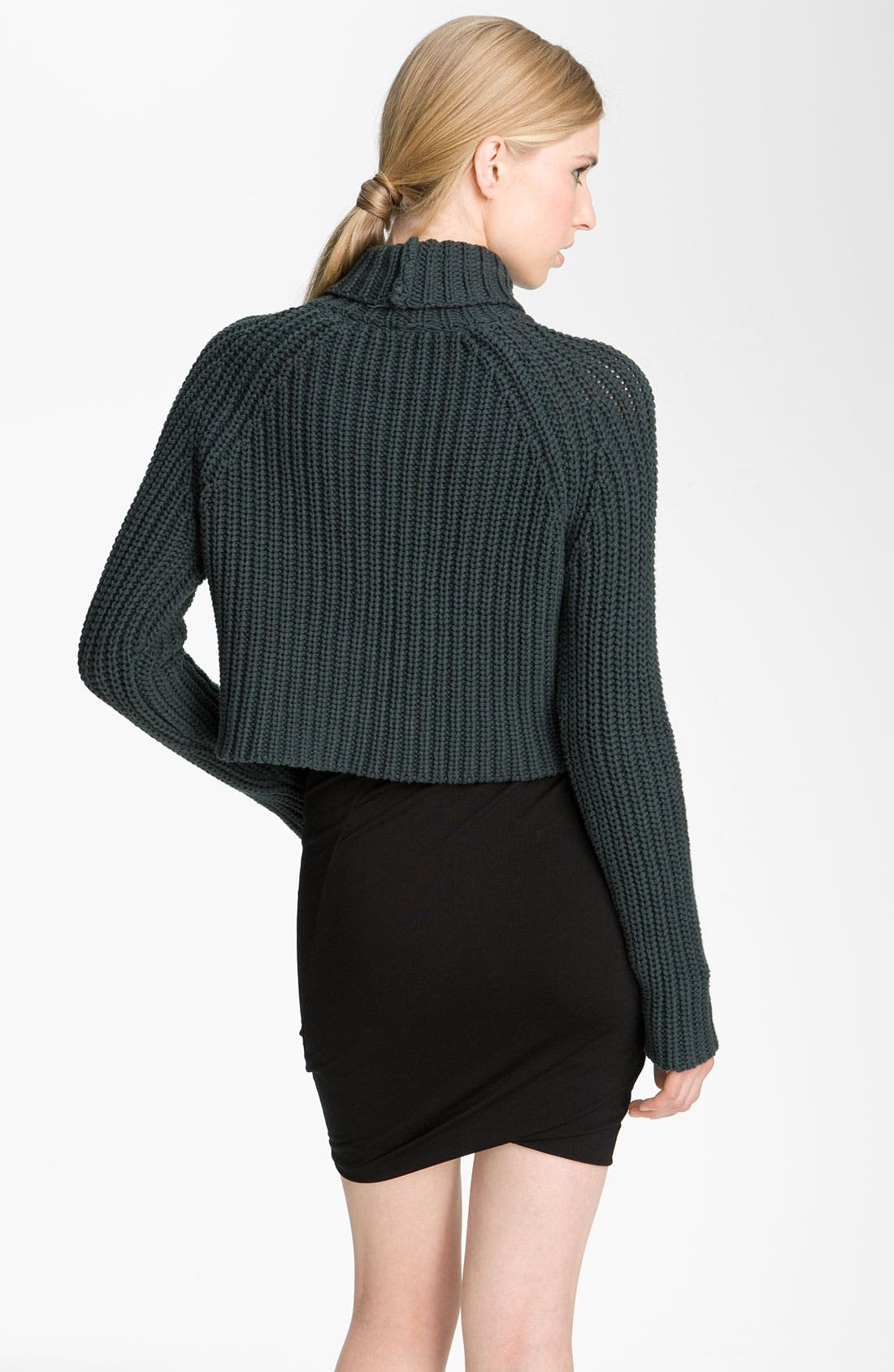 Alternate Image 2  - T by Alexander Wang Crop Turtleneck Sweater