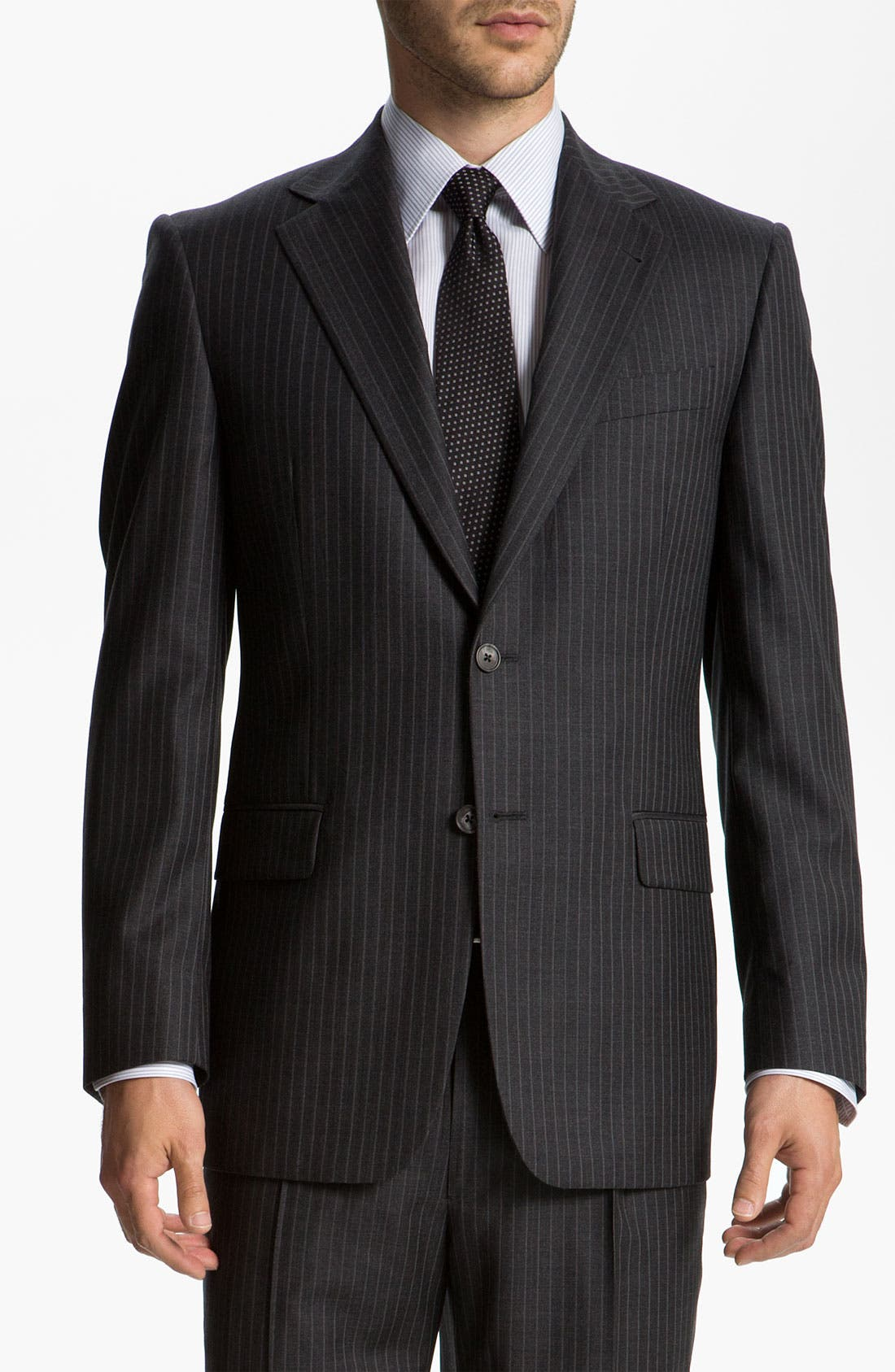 Alternate Image 1 Selected - Joseph Abboud 'Signature Silver' Stripe Suit