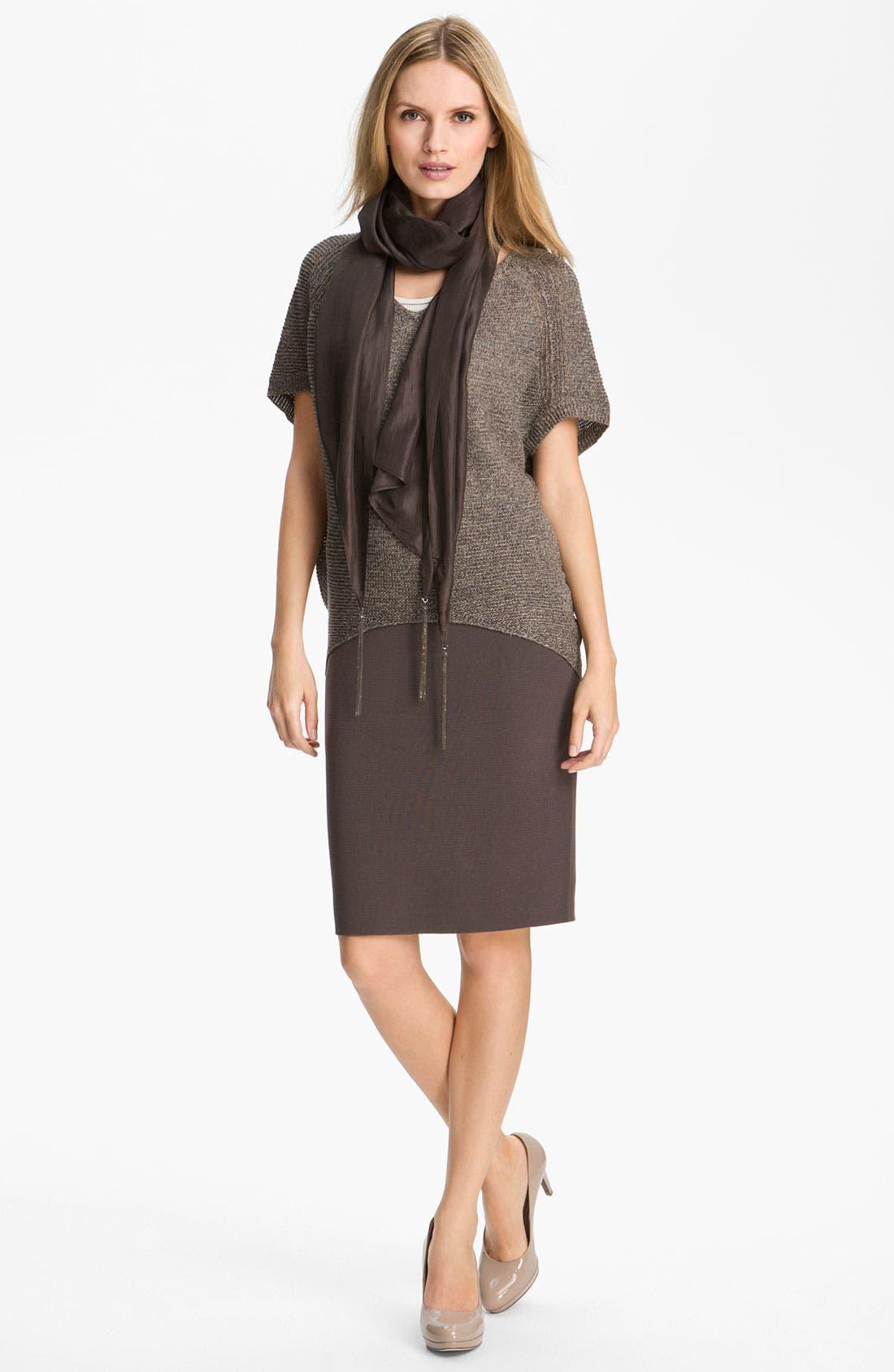 Alternate Image 3  - Eileen Fisher Silk Blend Knit Straight Skirt