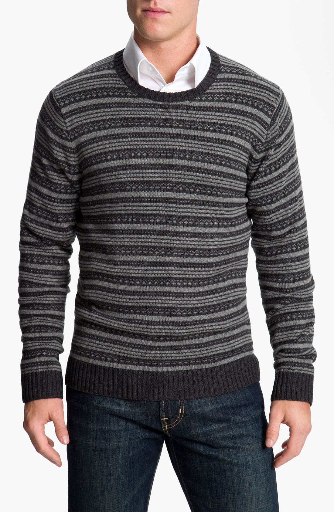 Alternate Image 1 Selected - Wallin & Bros. Fair Isle Cotton & Cashmere Sweater