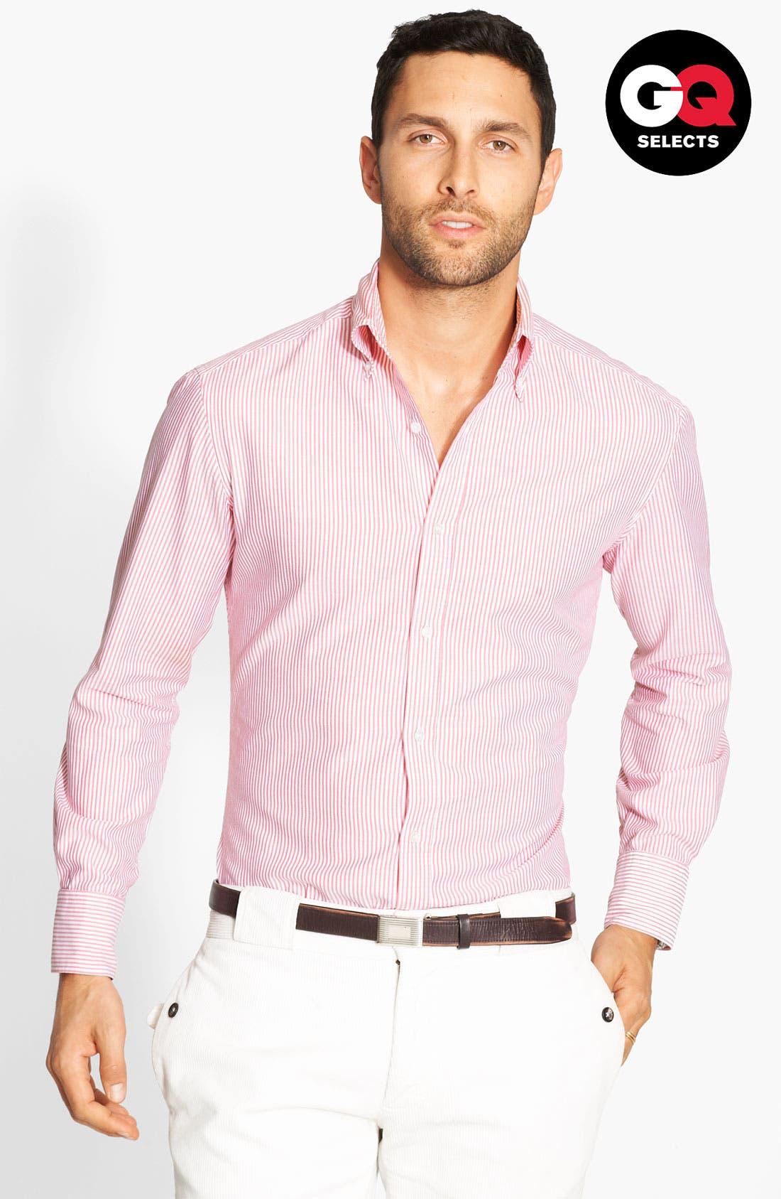 Alternate Image 1 Selected - Michael Bastian Stripe Shirt