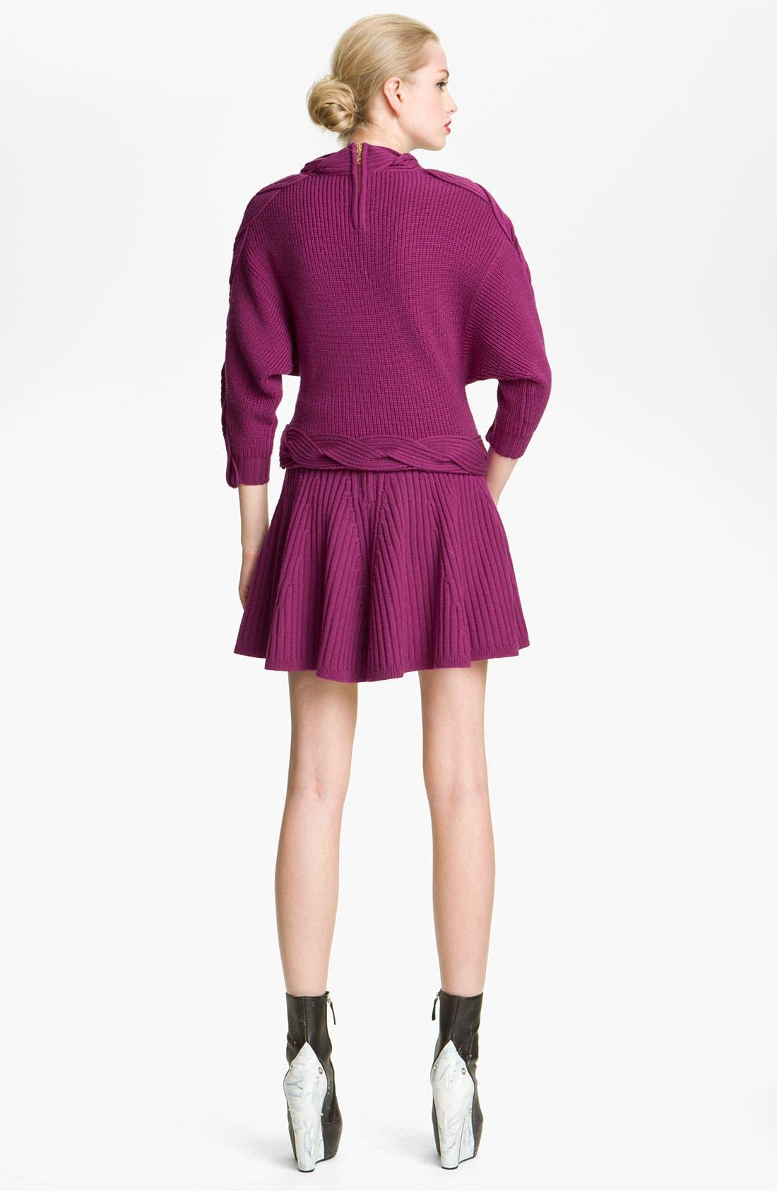 Alternate Image 2  - KENZO Cable Twist Knit Wool Sweater