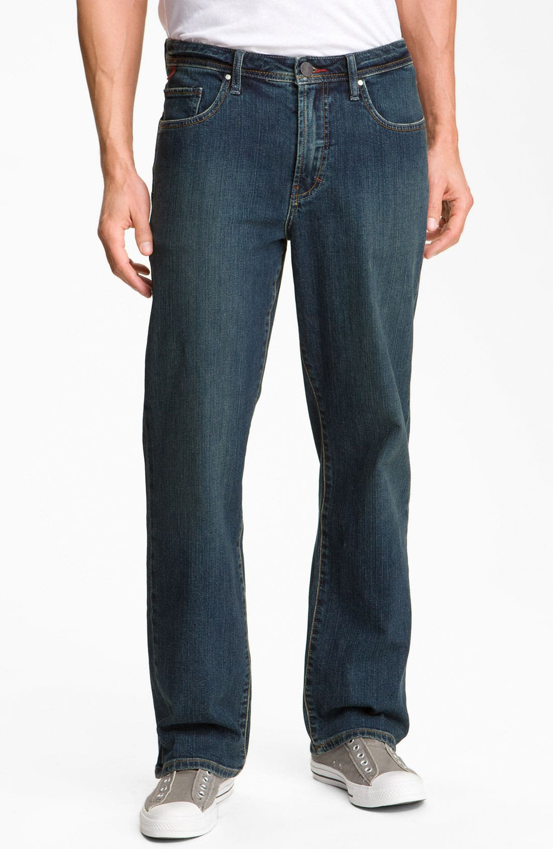 Main Image - Worn Jeans 'Octane' Straight Leg Jeans (Dark Edge)