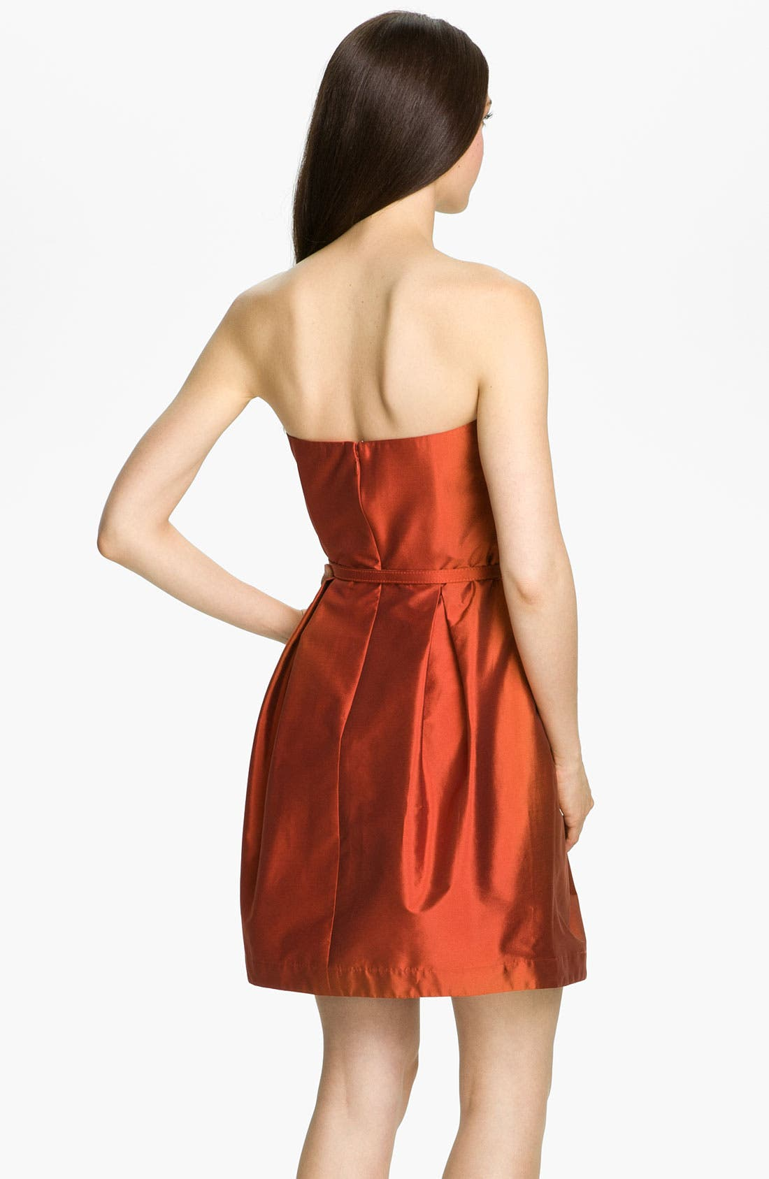 Alternate Image 2  - Eliza J Strapless Tulip Skirt Taffeta Dress