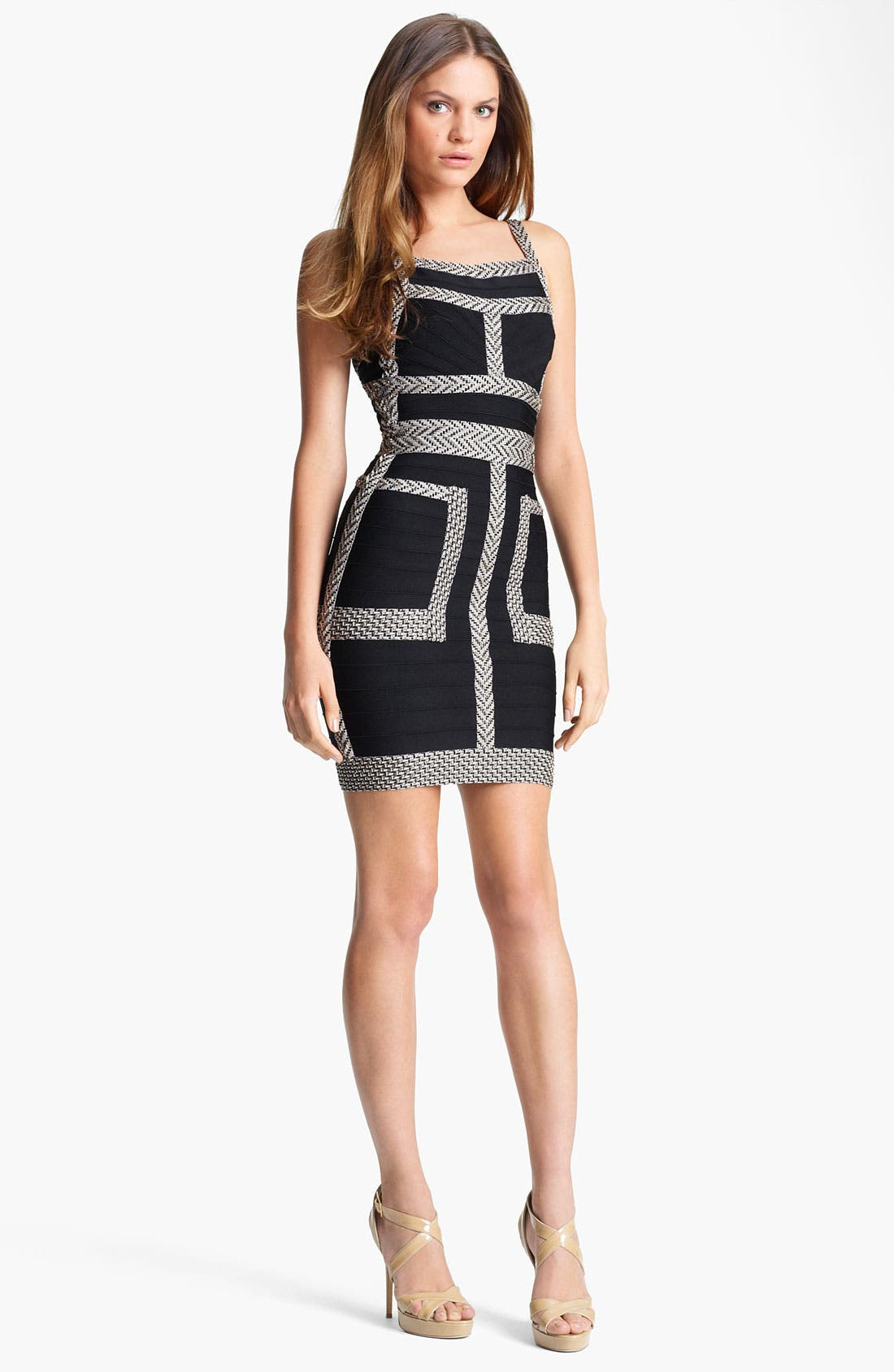 Main Image - Herve Leger Jacquard Bandage Dress