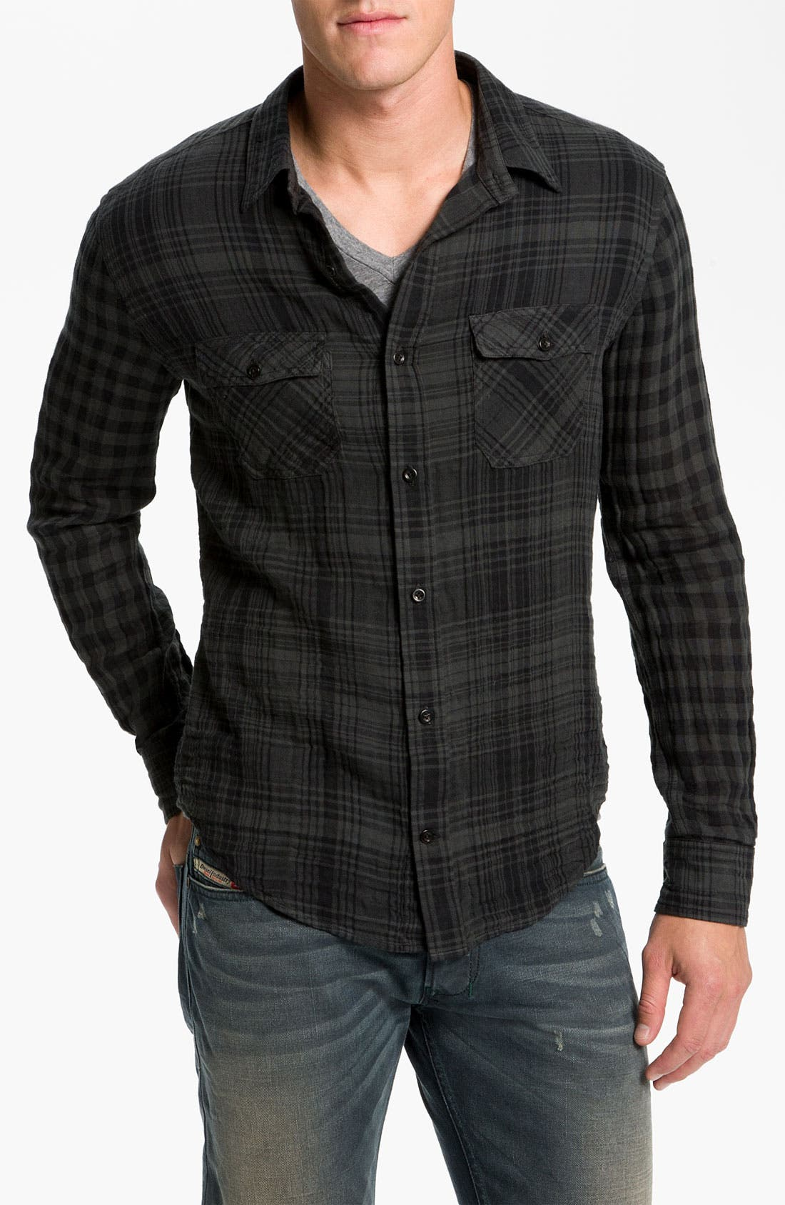 Alternate Image 1 Selected - Vince Dual Plaid Flannel Shirt
