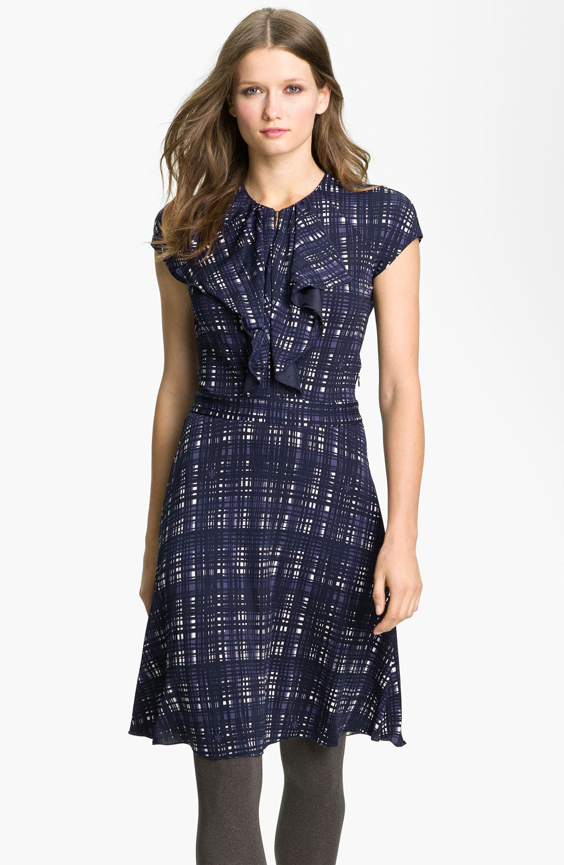 Main Image - Tory Burch 'Clementine' Plaid A-Line Dress