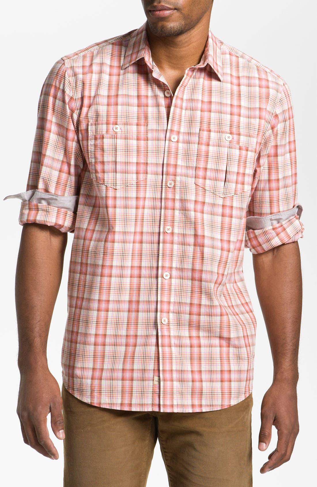 Alternate Image 1 Selected - Tommy Bahama Denim 'Peachy Plaid' Sport Shirt