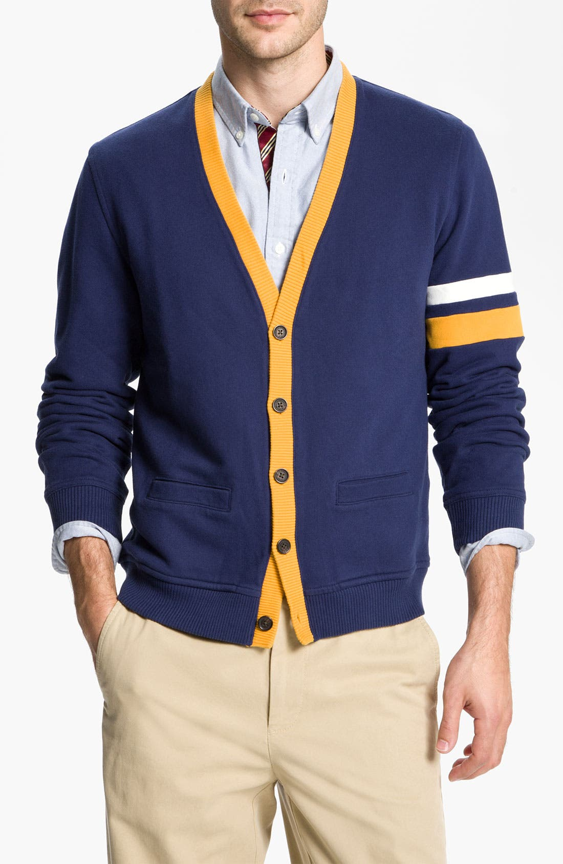 Alternate Image 1 Selected - Brooks Brothers 'Varsity' Cardigan