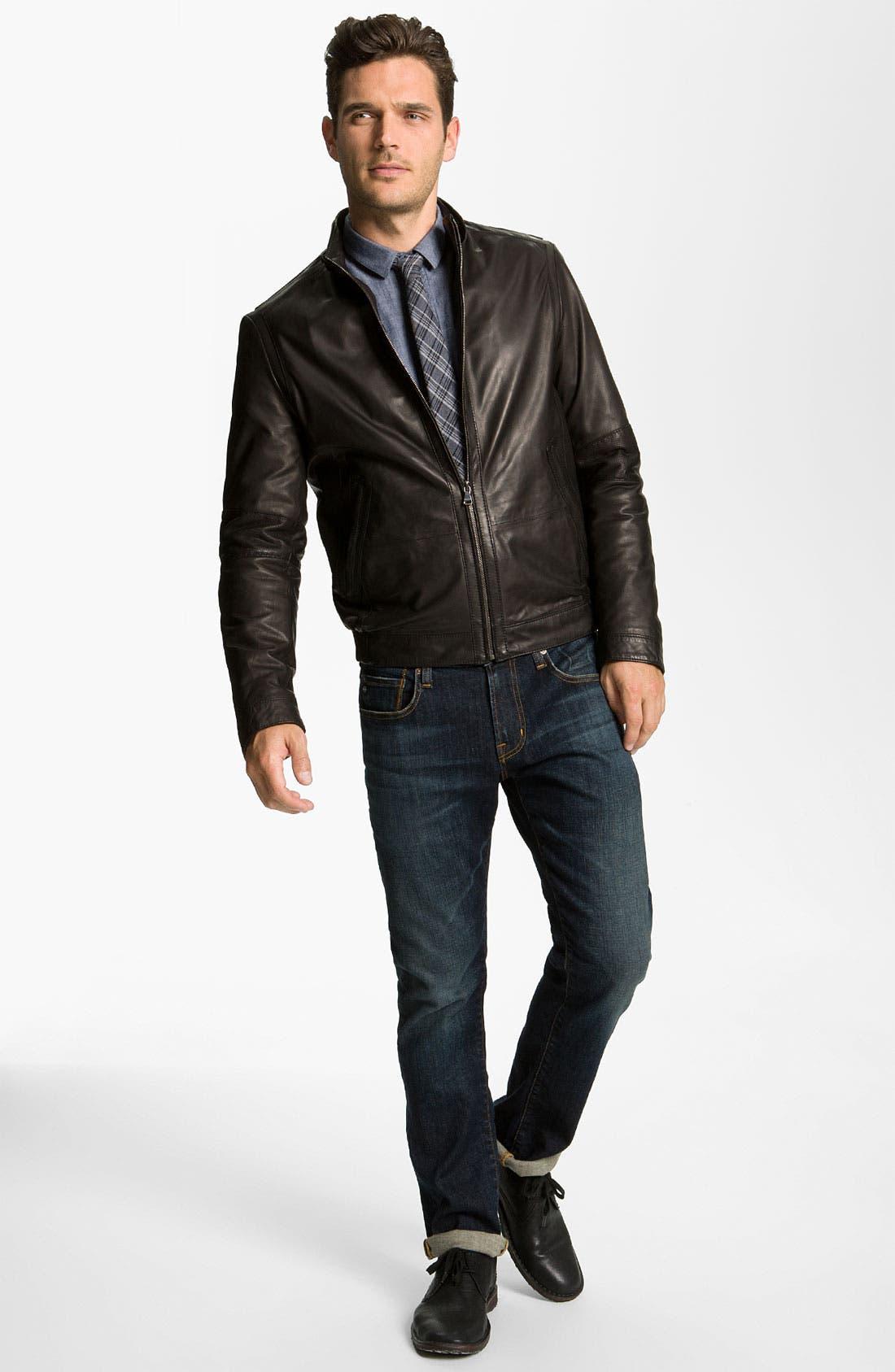 Alternate Image 4  - BOSS Black 'Nekun' Leather Jacket