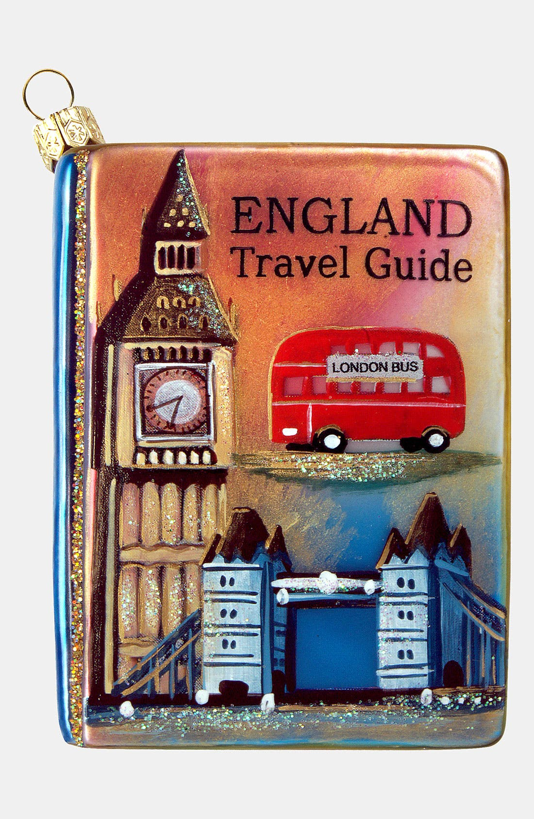 Alternate Image 1 Selected - Nordstrom at Home 'England Travel Guide' Glass Ornament