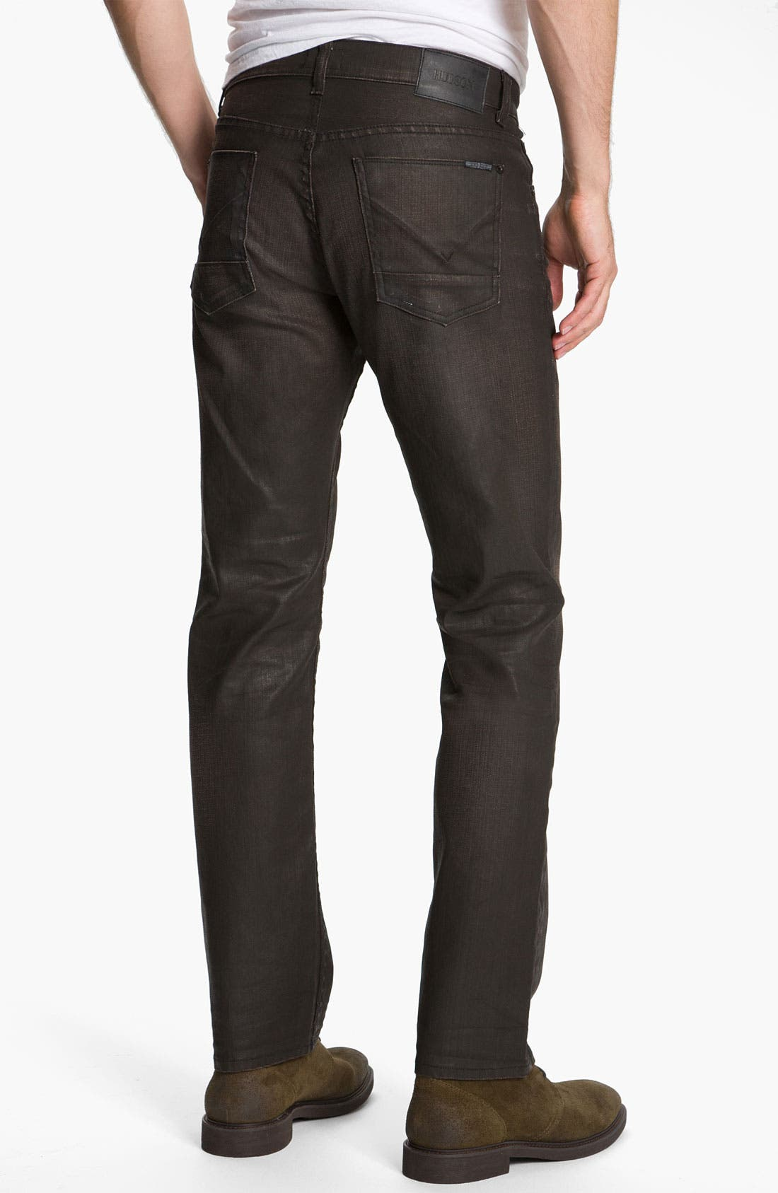 Alternate Image 1 Selected - Hudson Jeans 'Byron' Coated Straight Leg Jeans (Tomahawk)