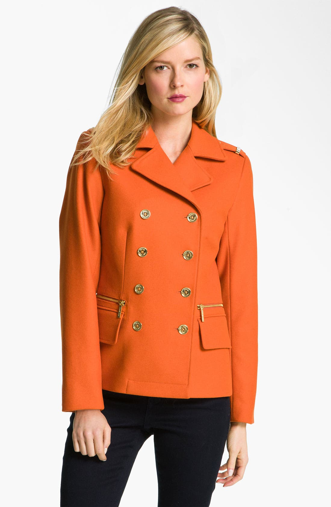 Alternate Image 1 Selected - MICHAEL Michael Kors Double Breasted Peacoat