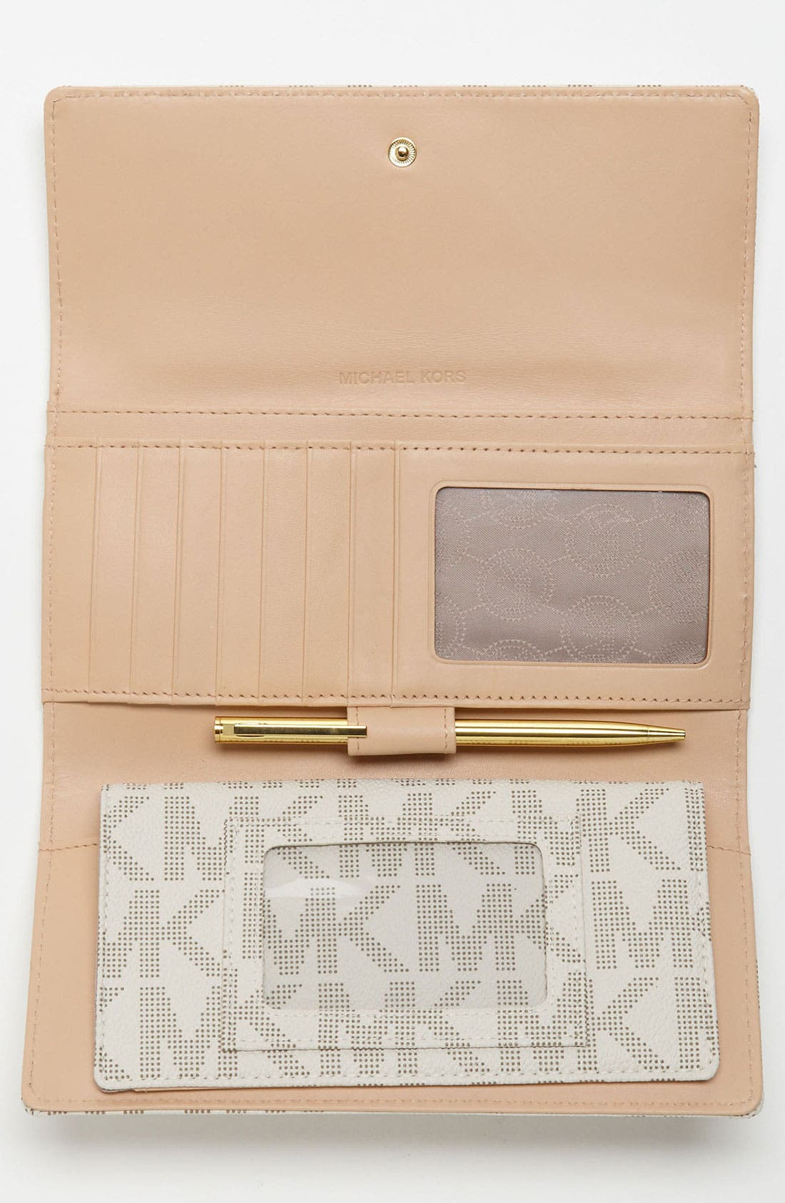 Alternate Image 4  - MICHAEL Michael Kors 'Jet Set - Signature' Checkbook Wallet