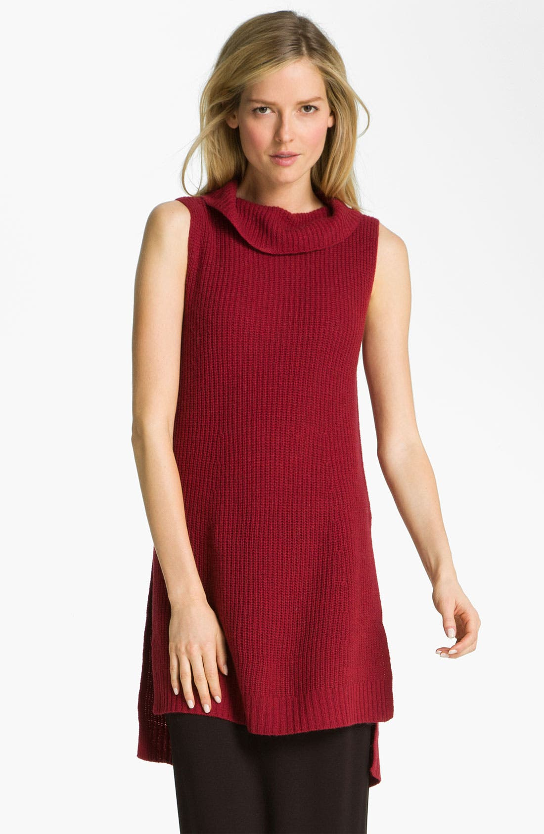 Alternate Image 1 Selected - Eileen Fisher Supersoft Yak Wool Blend Tunic Dress