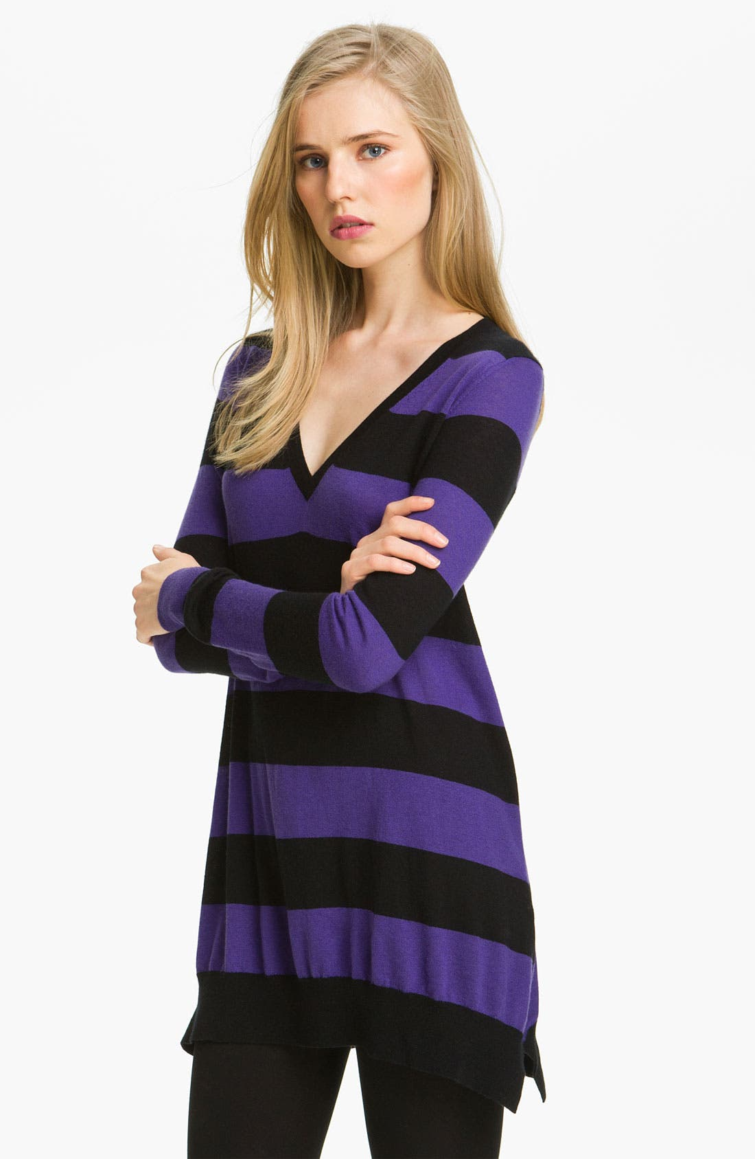 Alternate Image 1 Selected - autumn cashmere Stripe Cashmere Tunic