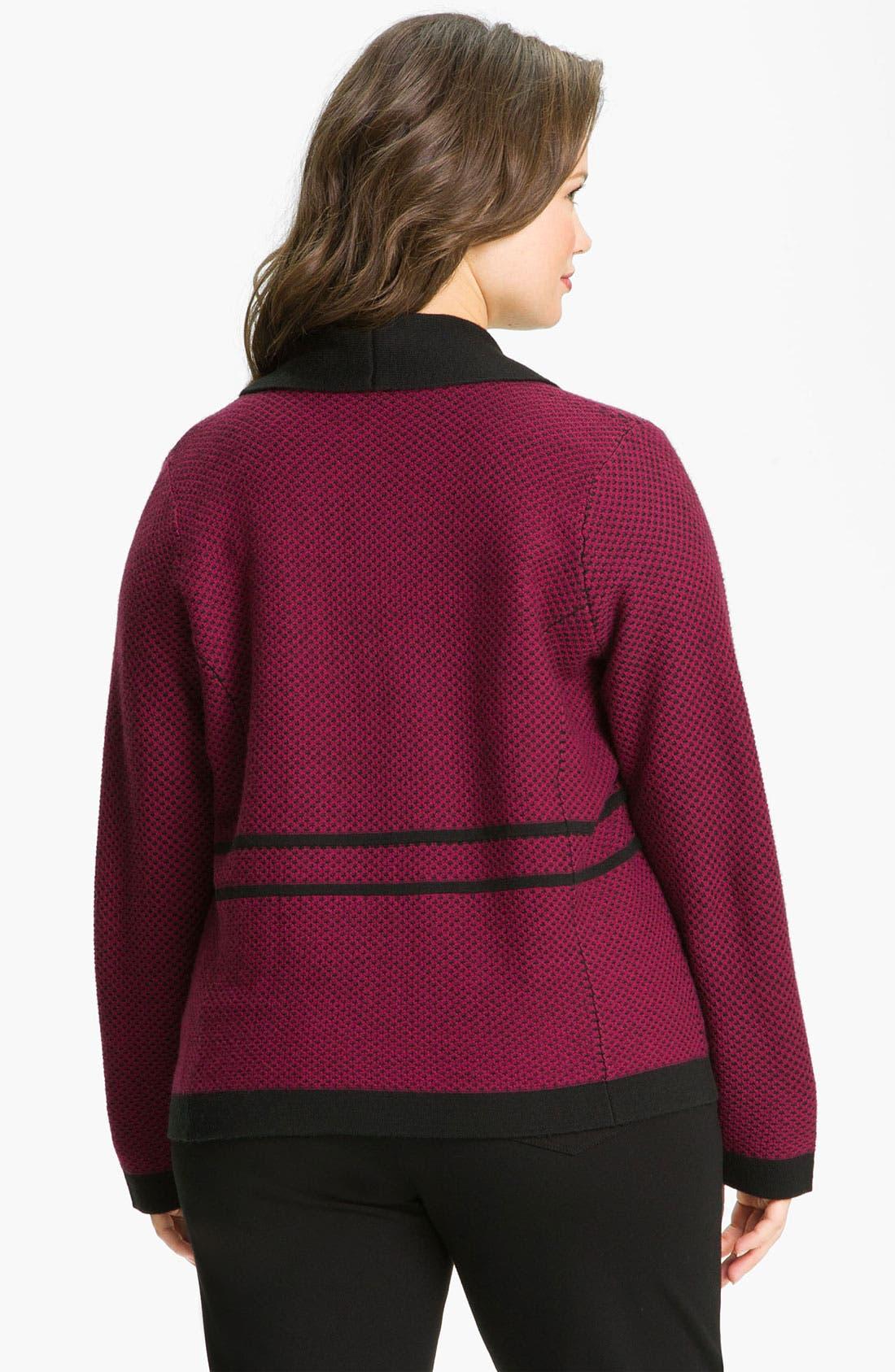 Alternate Image 2  - Sejour Shawl Collar Sweater Jacket (Plus)