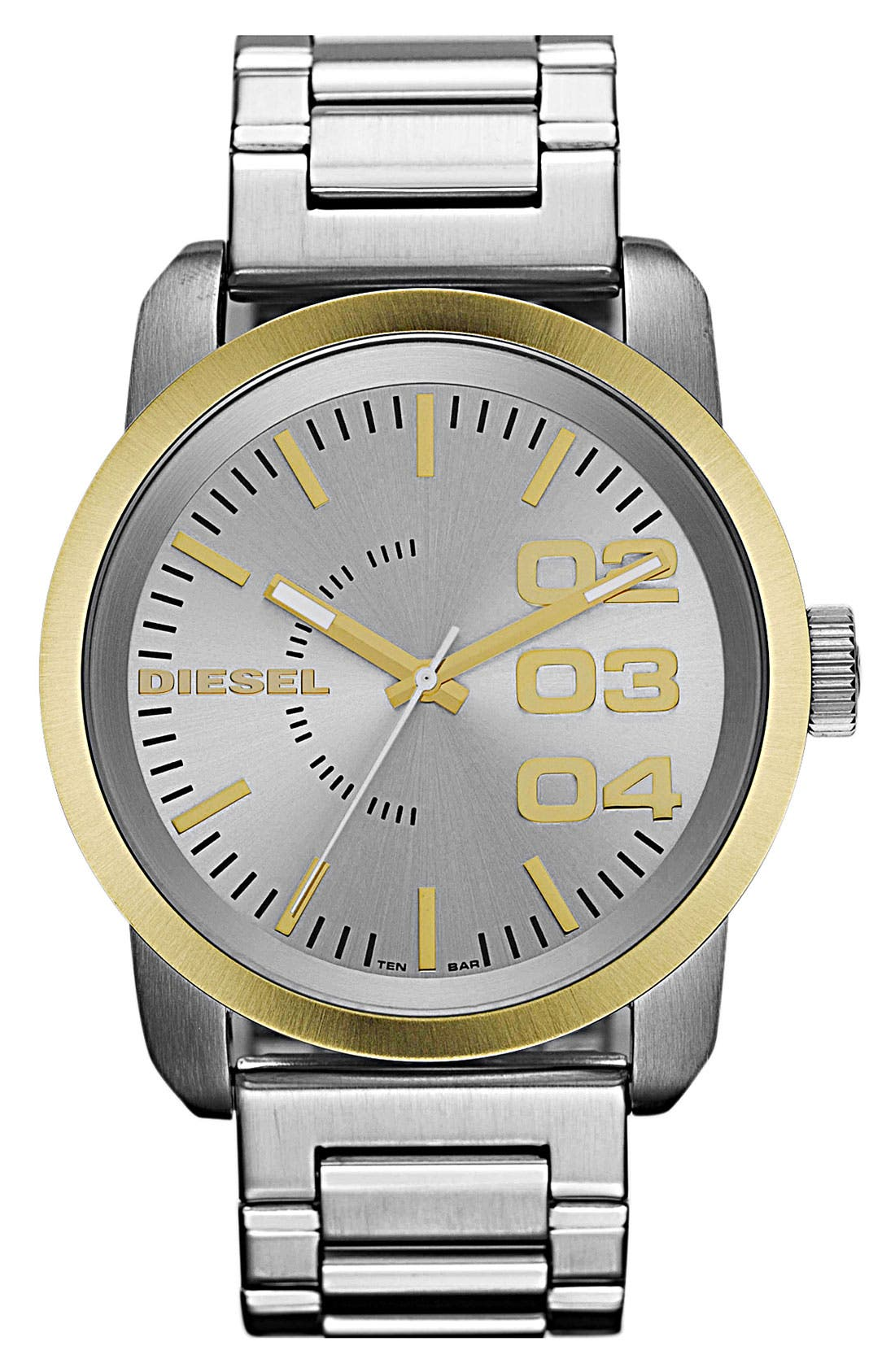 Alternate Image 1 Selected - DIESEL® 'Double Down' Bracelet Watch, 46mm