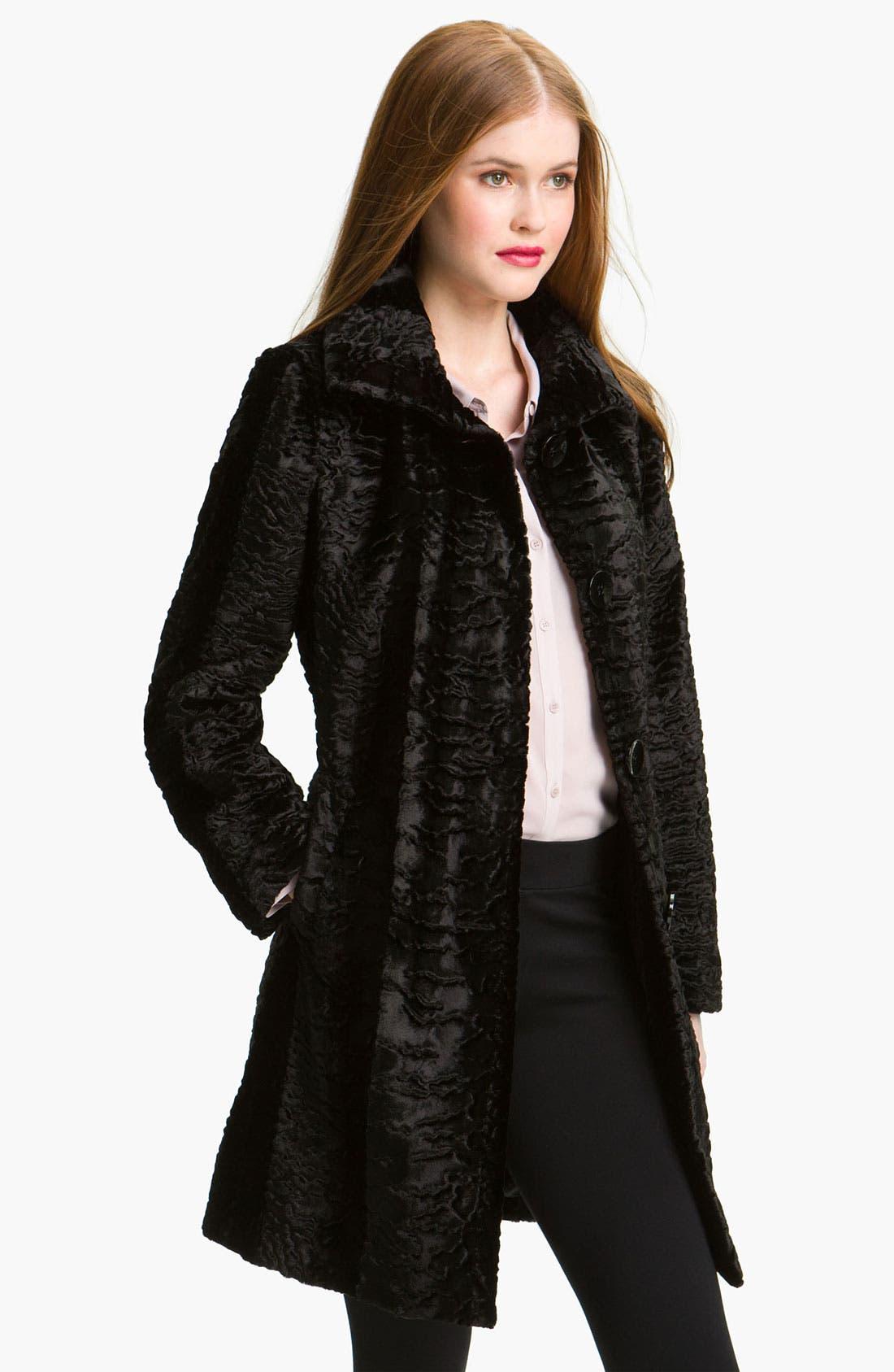 Alternate Image 1 Selected - Gallery Faux Persian Lamb Fur Coat