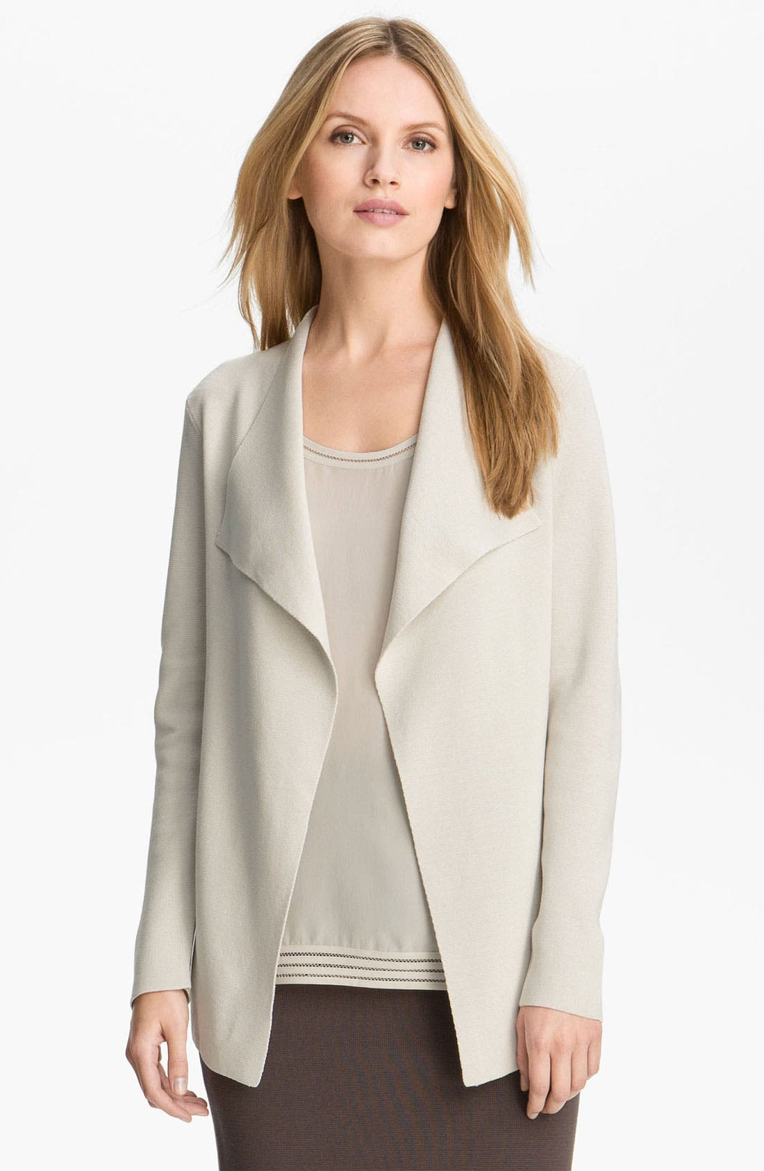 Main Image - Eileen Fisher Silk & Cotton Knit Cardigan